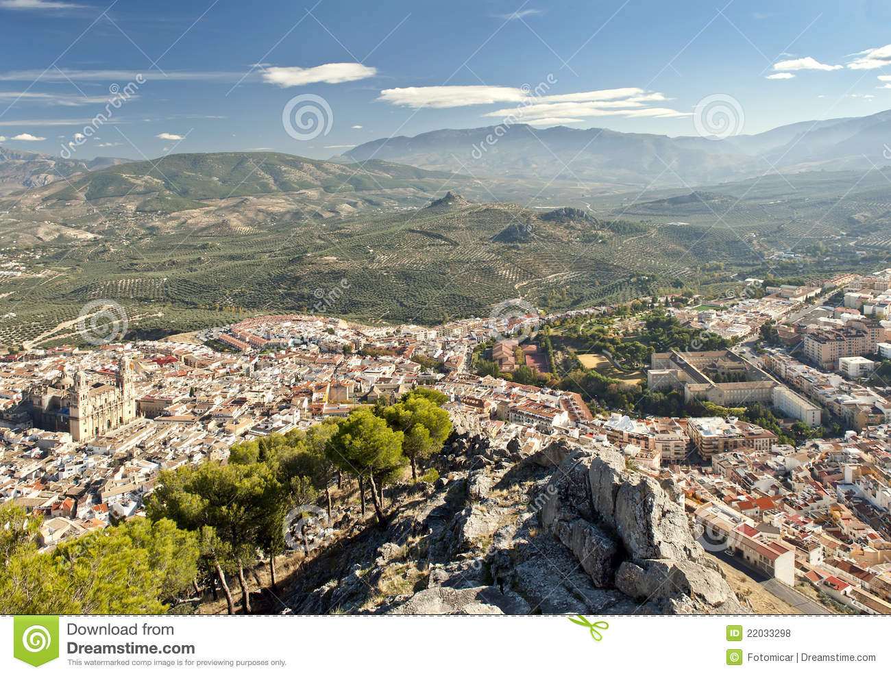 Jaen Spain  city photo : View of Jaen City from Santa Catalina Castle, Andalusia, Spain.