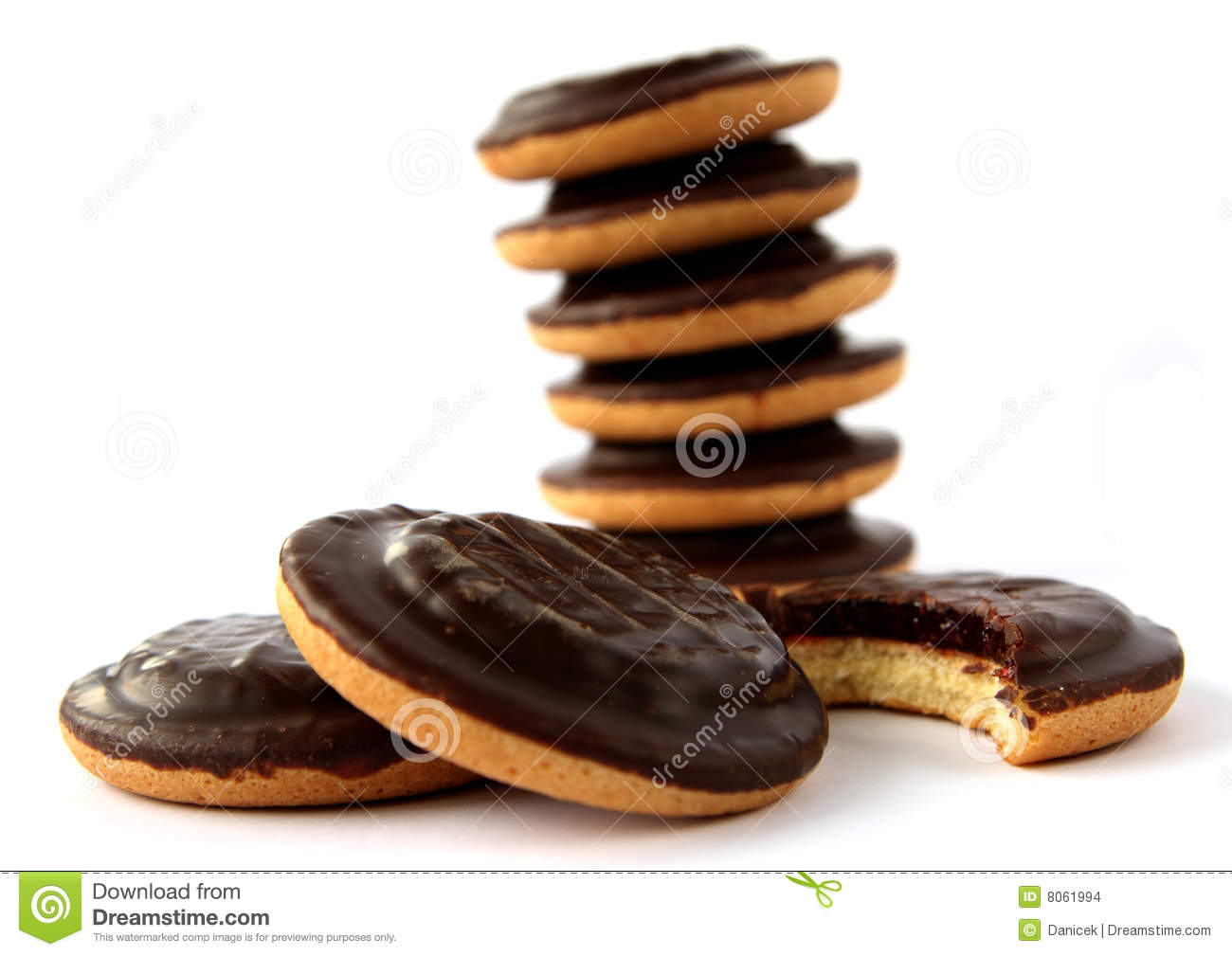 Jaffa cakes - traditional sweet cookies covered with chocolate and ...
