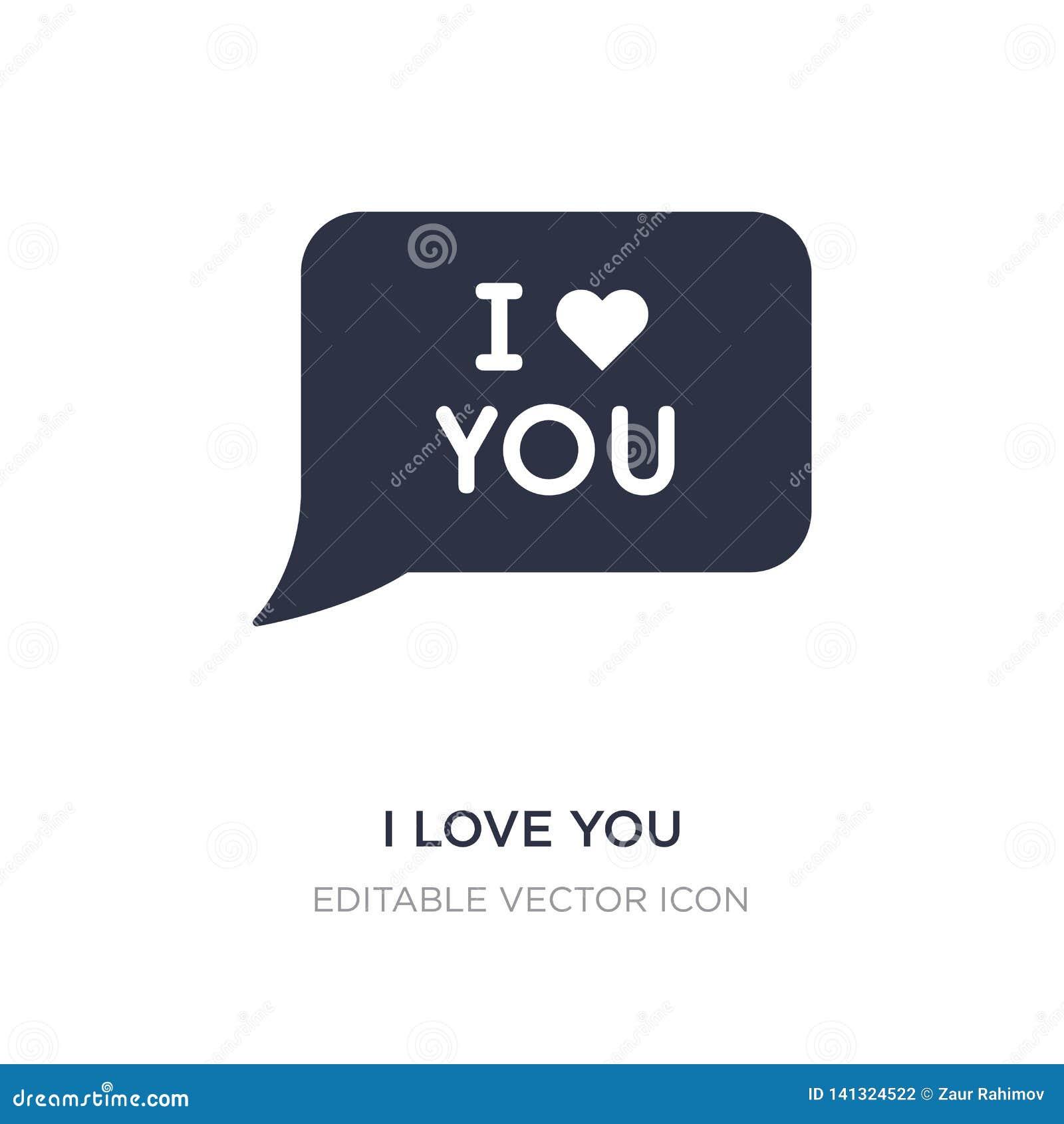 Jag älskar dig symbolen på vit bakgrund Enkel beståndsdelillustration från kommunikationsbegrepp
