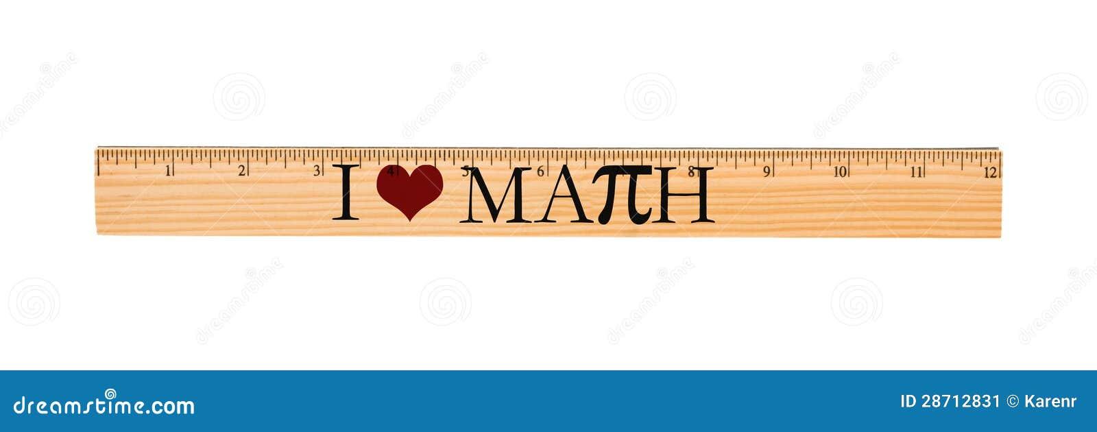 Jag älskar matematiklinjalen