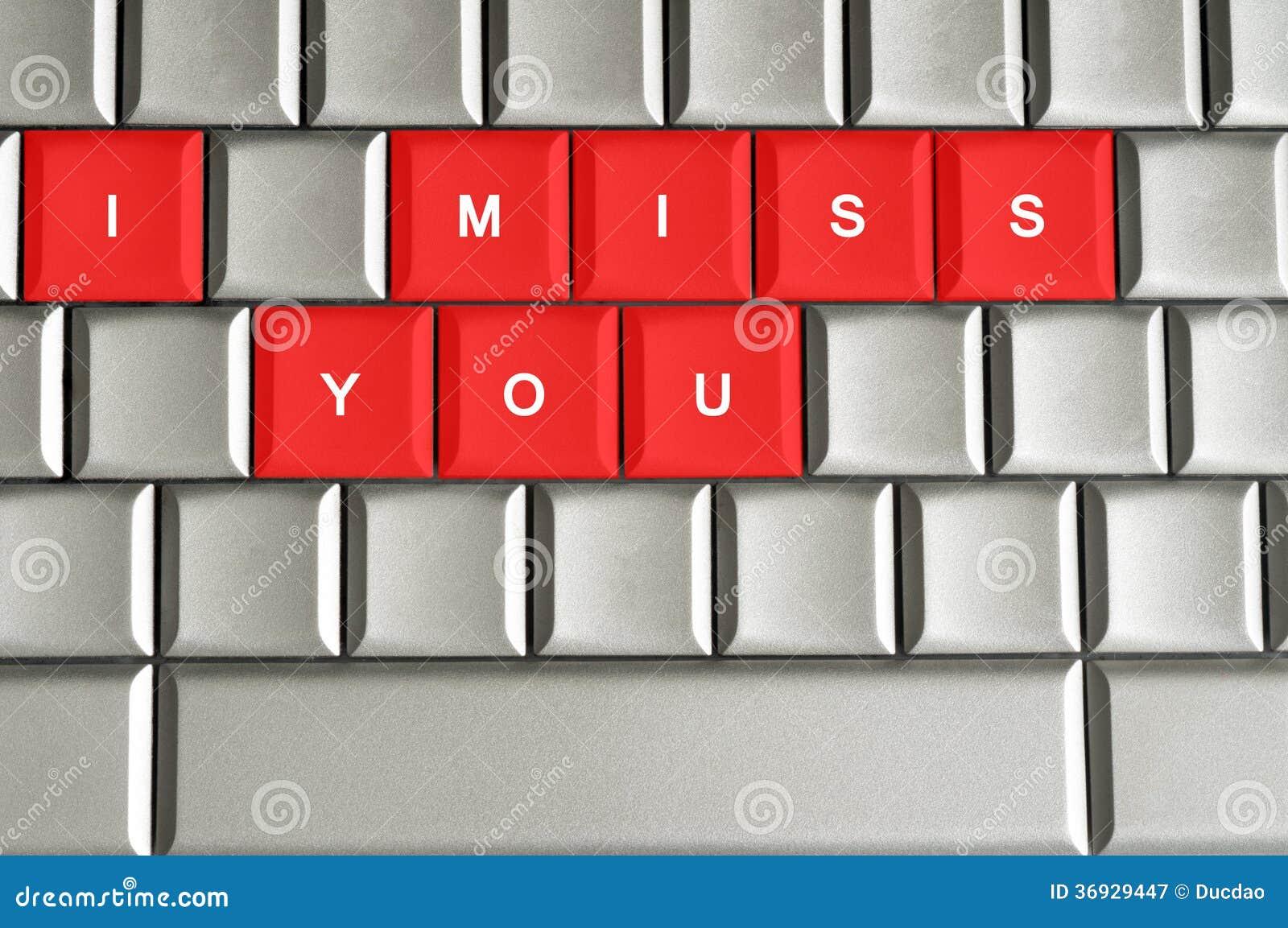 Jag missa dig stavade på det metalliska tangentbordet