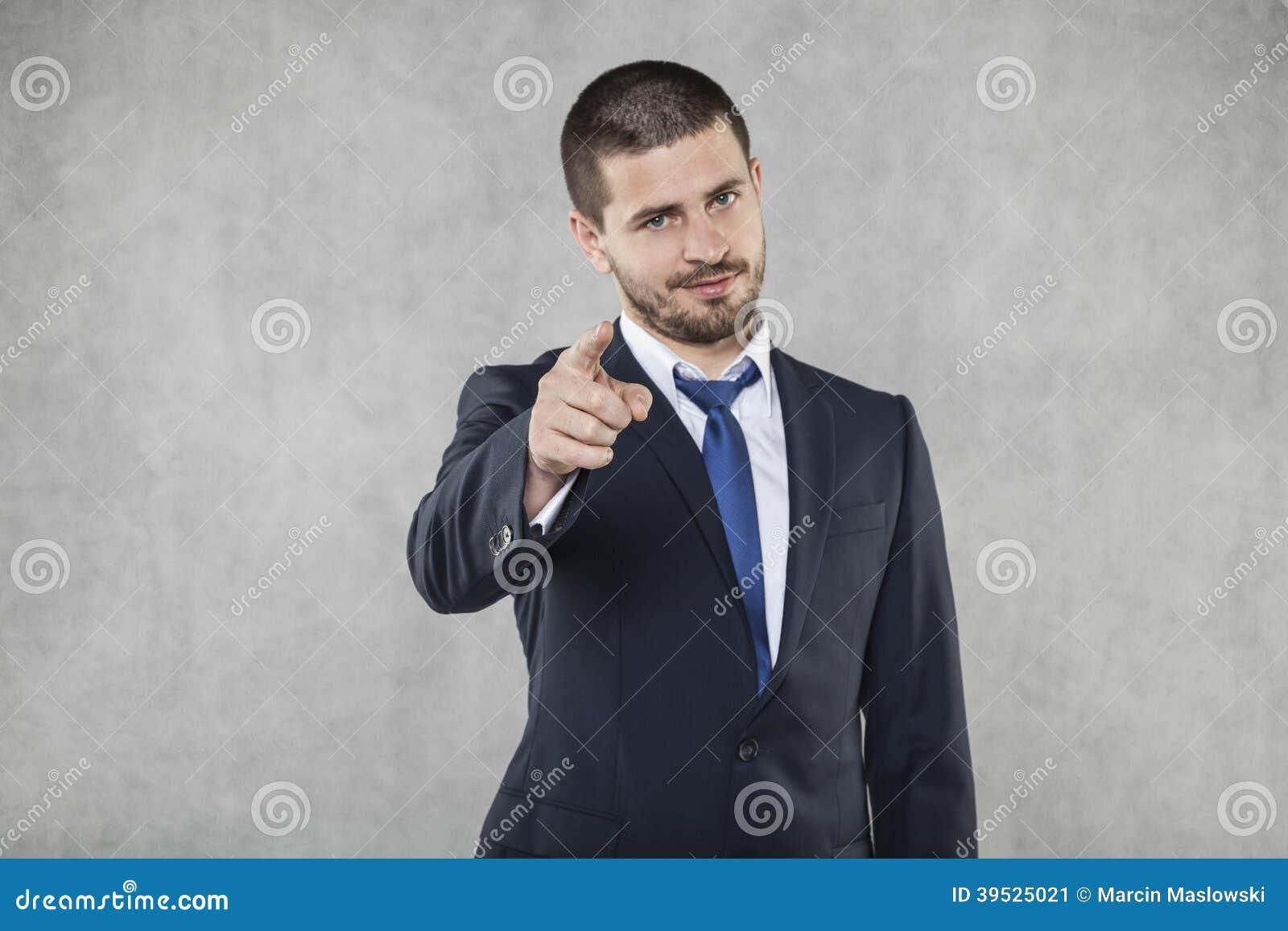 Jag ser dig, att peka för affärsman