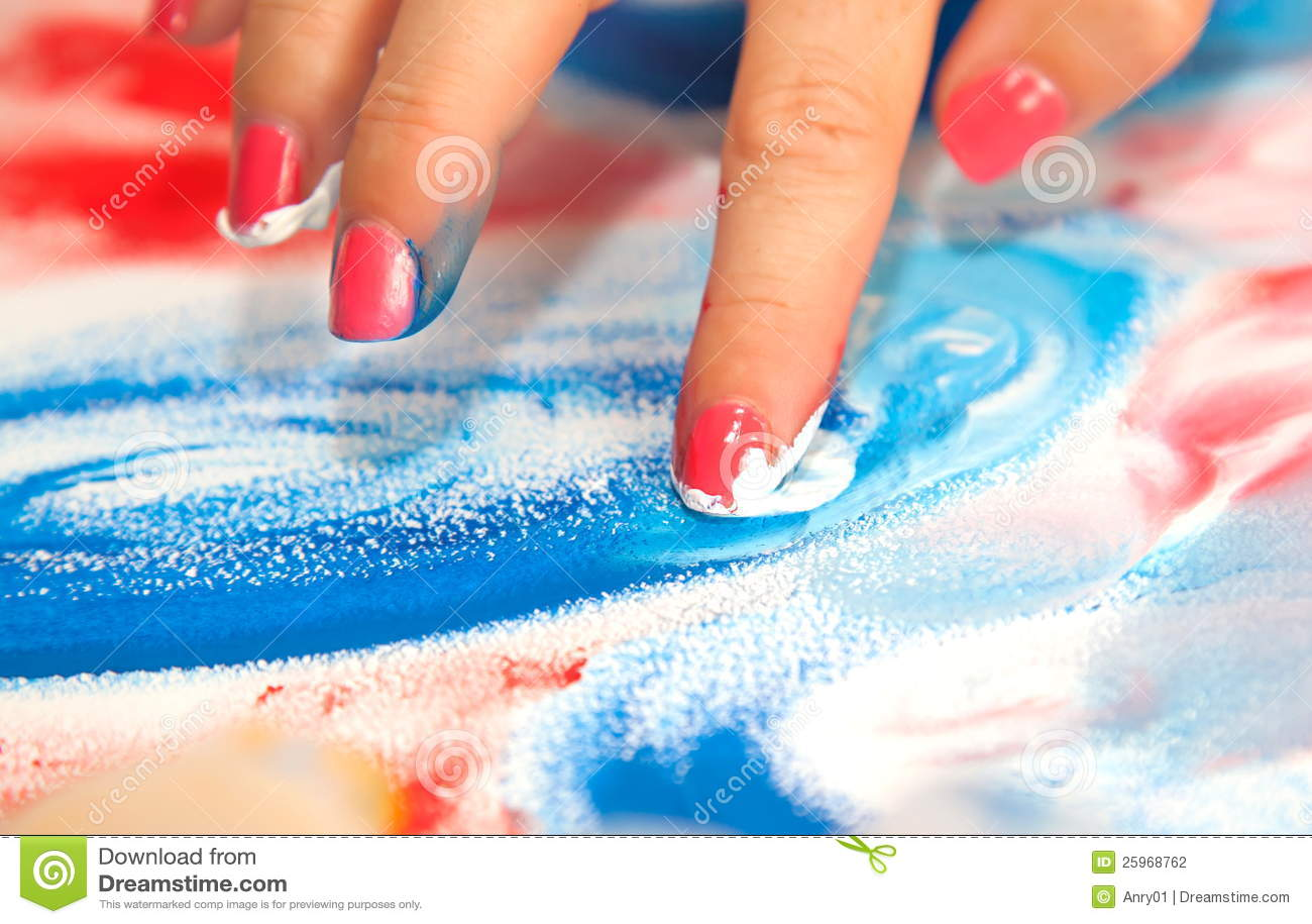 Jag tecknar dina fingrar