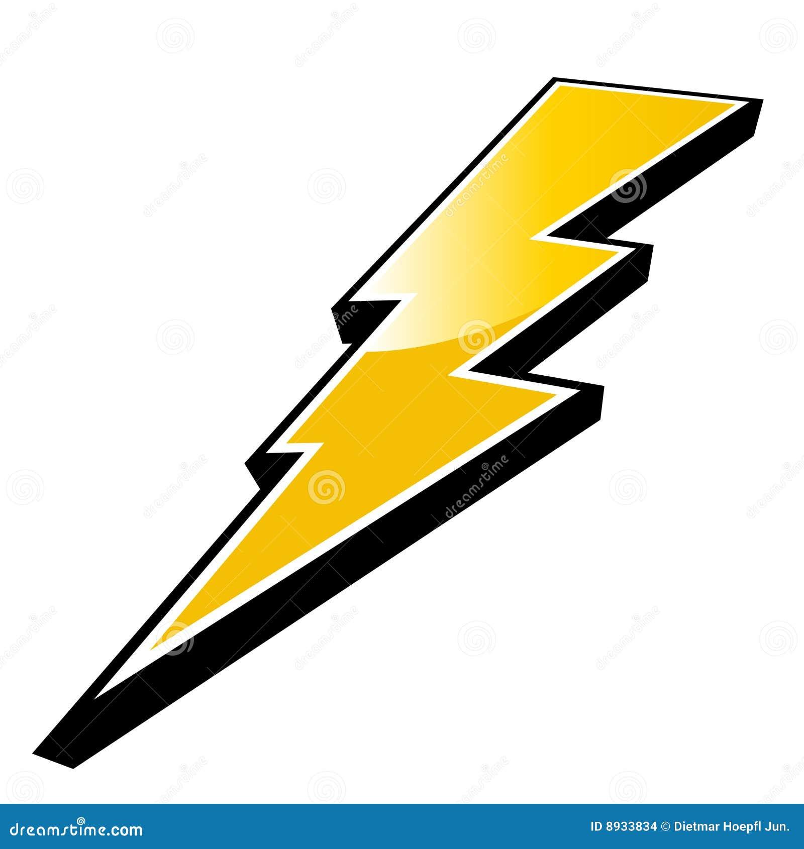 Zeus Lightning Bolt Clipart Symbol
