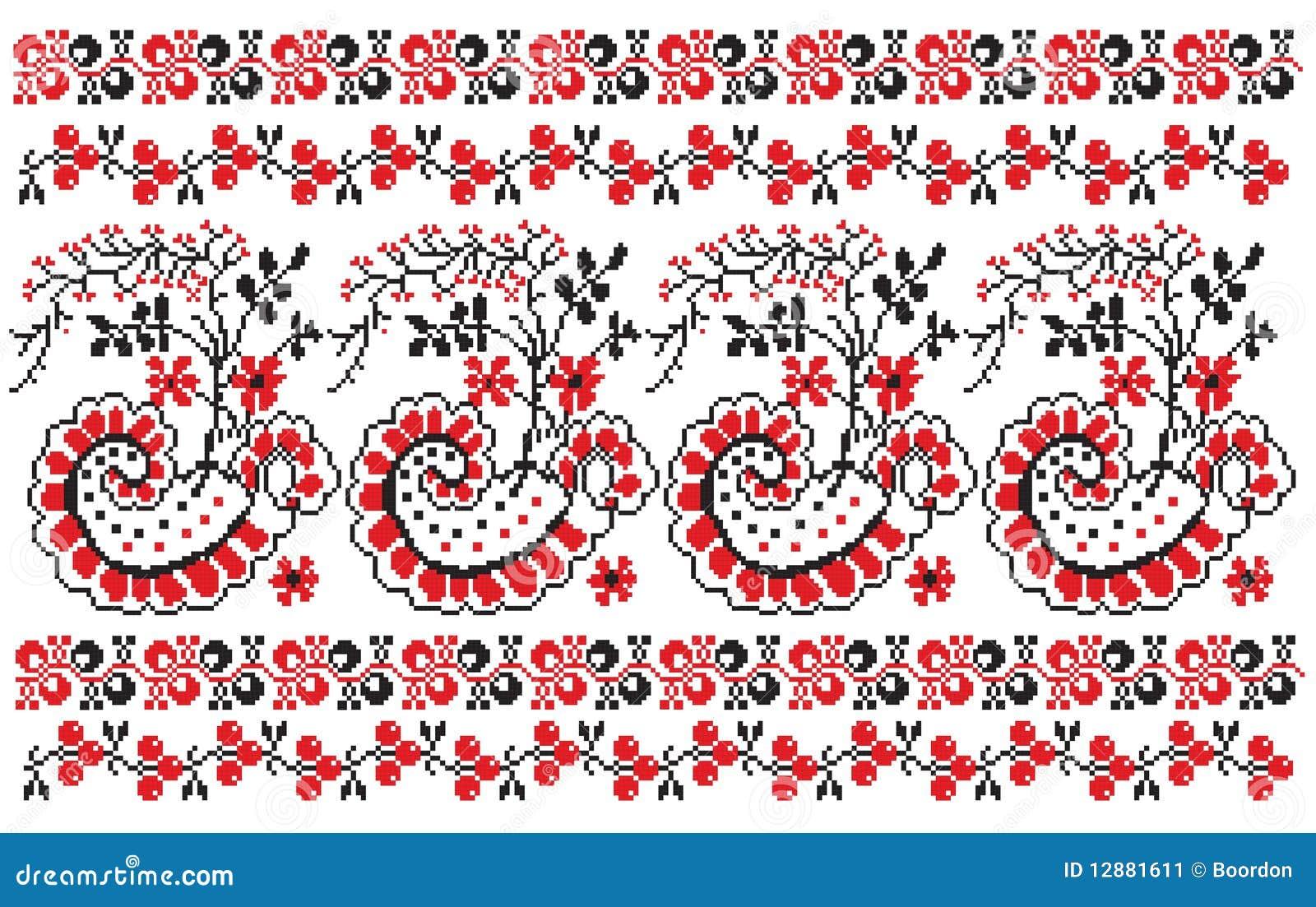 Jagody haftują ukrainian