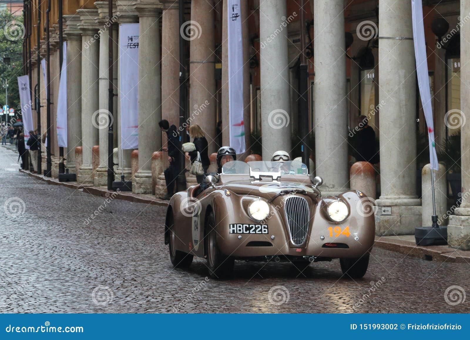 Jaguar Car, Mille Miglia, Historic Car Race, Modena, May ...