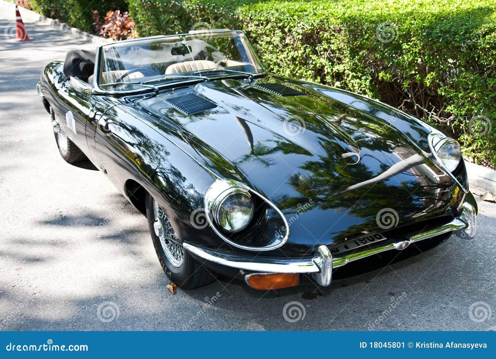Jaguar E Type On Vintage Car Parade Stock Image