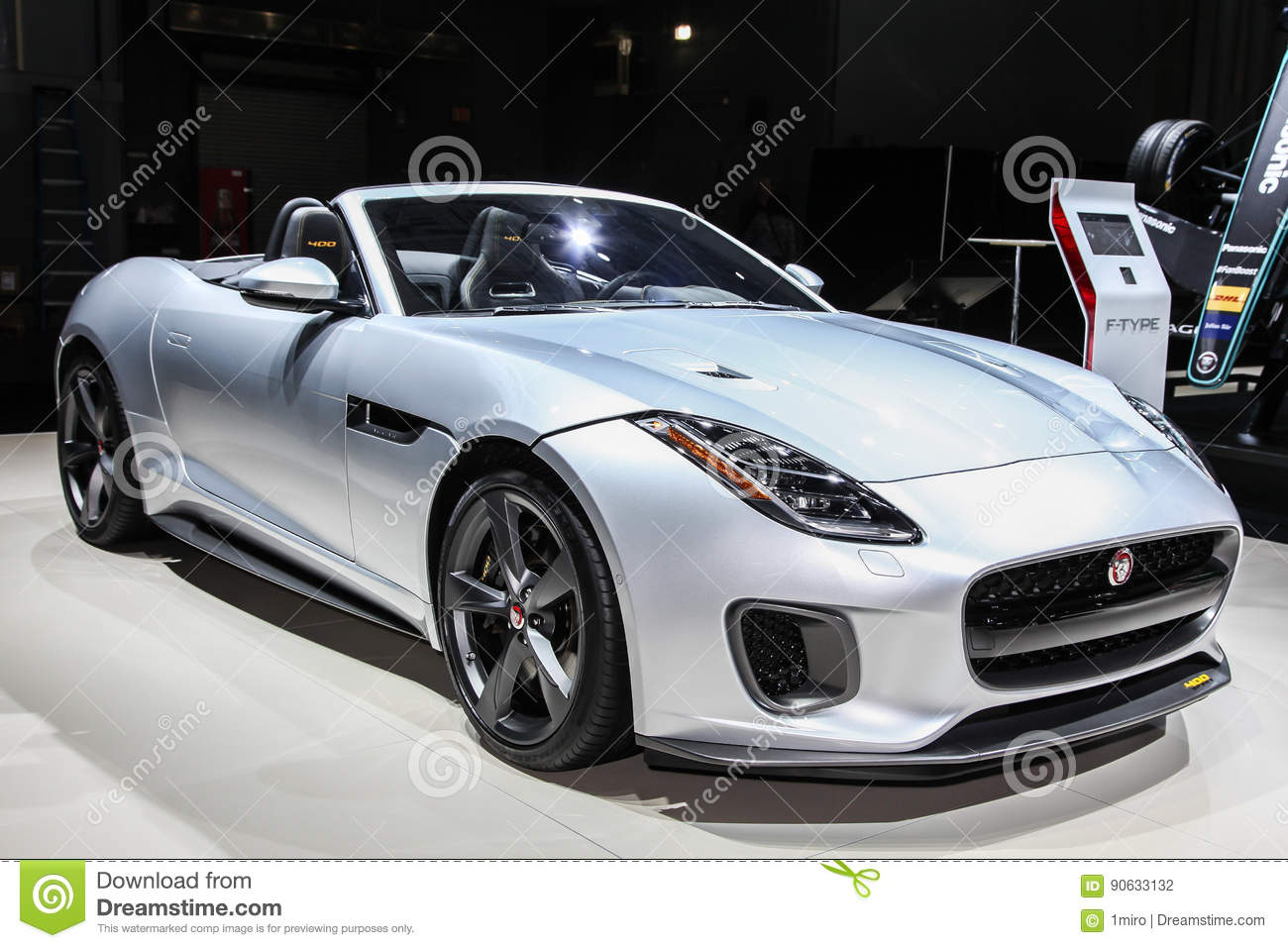 Jaguar F Type Sport Convertible S Editorial Photography - Jacob javits center car show 2018