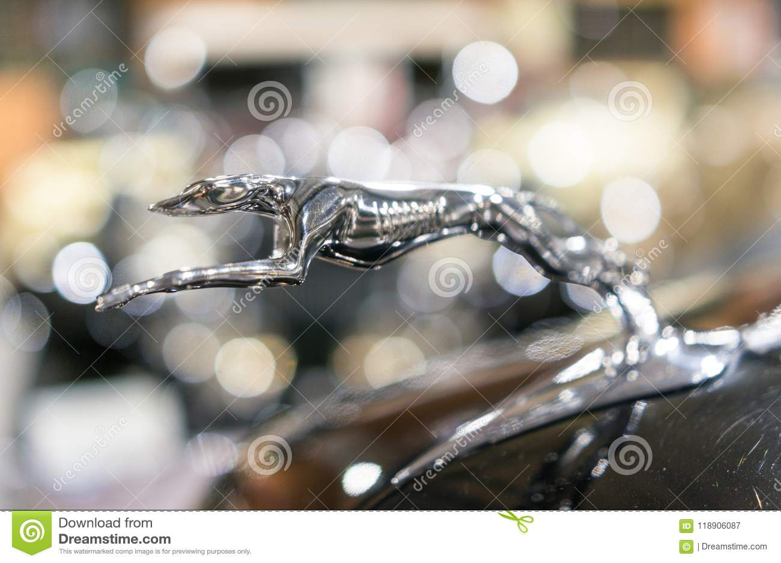 Jaguar-Haubenverzierung