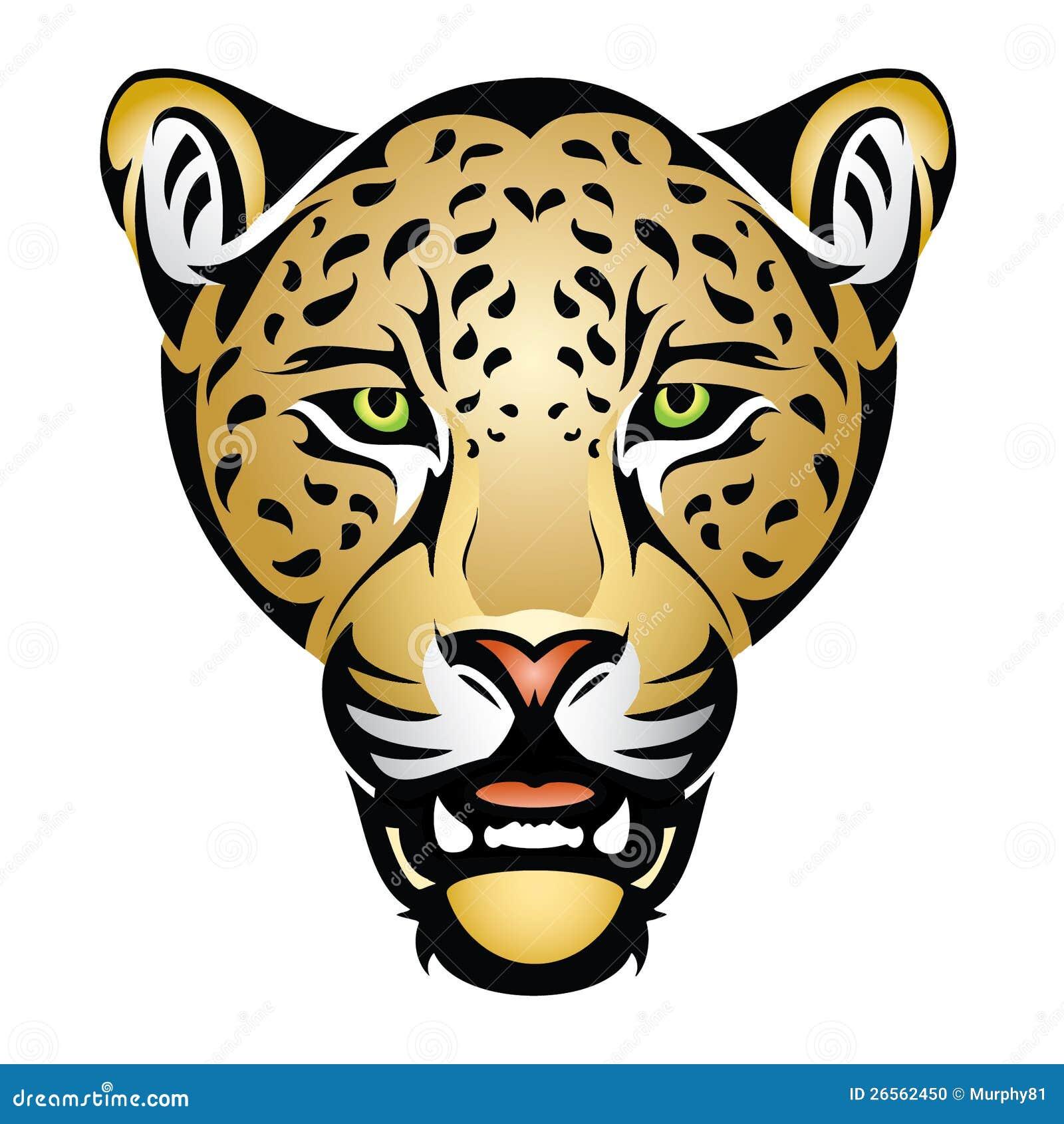 Jaguar Face Clip Art: Jaguar Face Clip Art