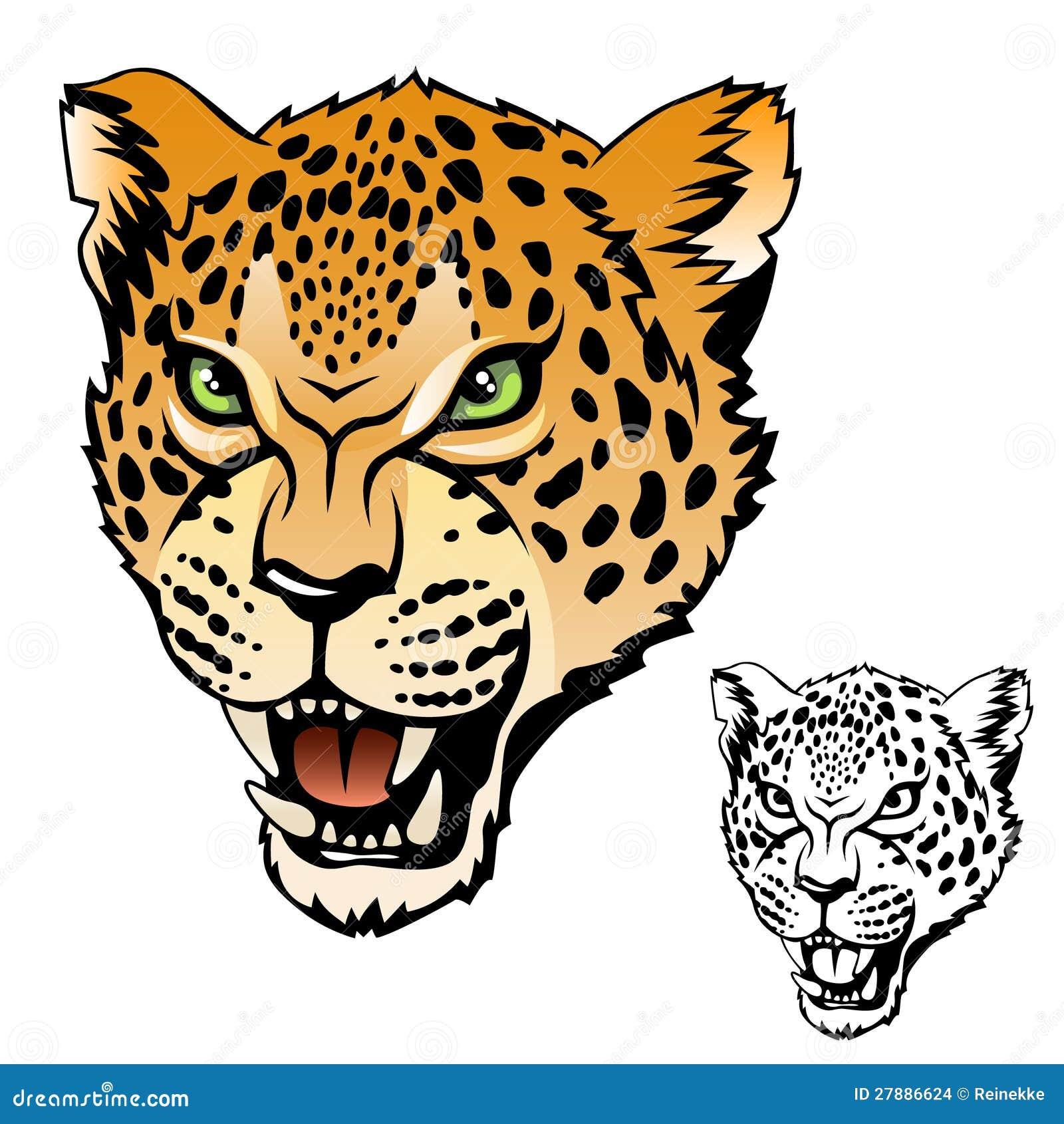 Jaguar Face Clip Art: Jaguar Head Stock Images