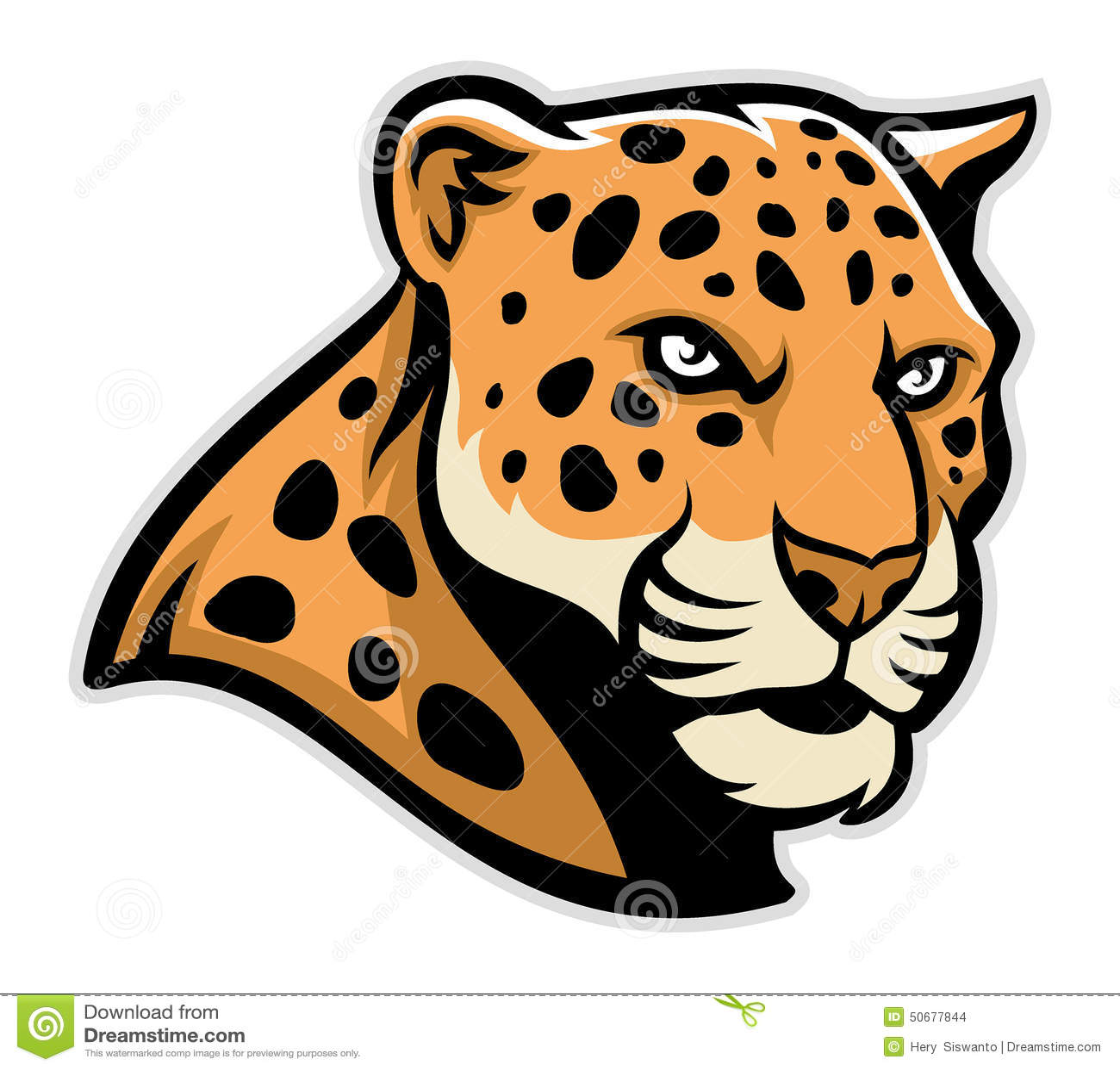jaguar head mascot stock vector illustration of camouflage 50677844 rh dreamstime com Jaguar Mascot Blue Jaguar Girl Mascot