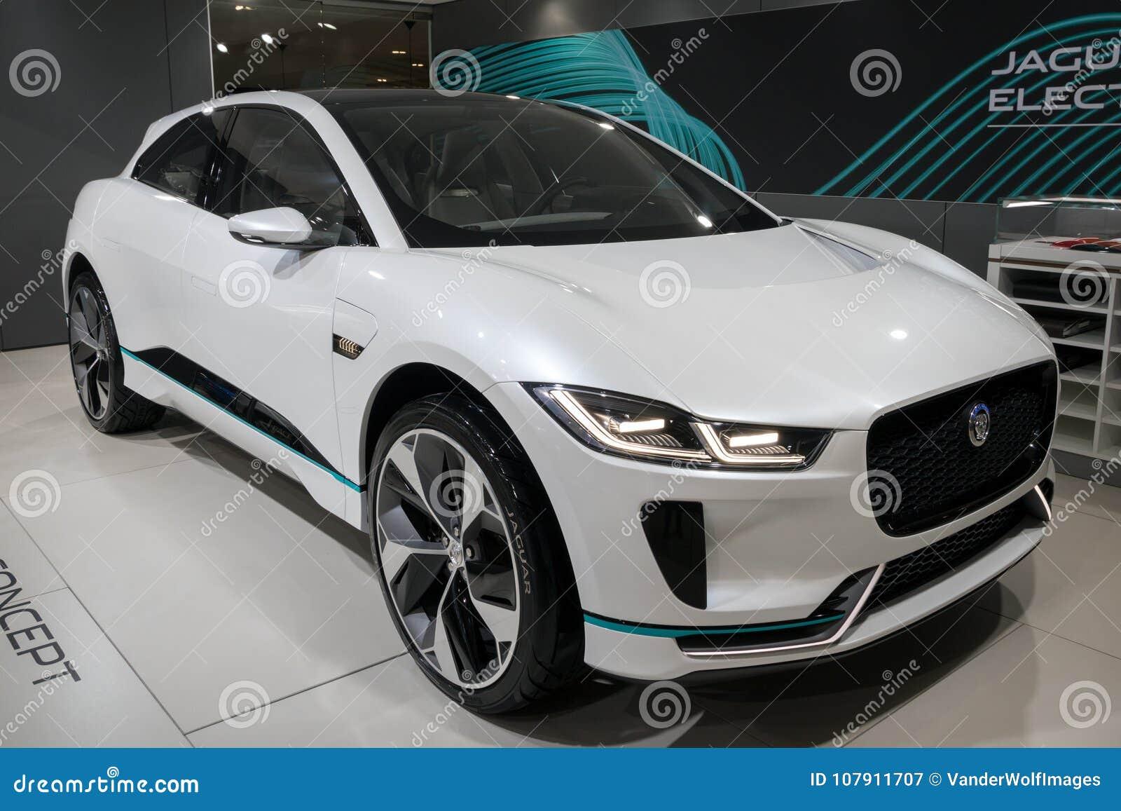2018 Jaguar I Tempo Elektrische Suv Auto Redactionele Fotografie