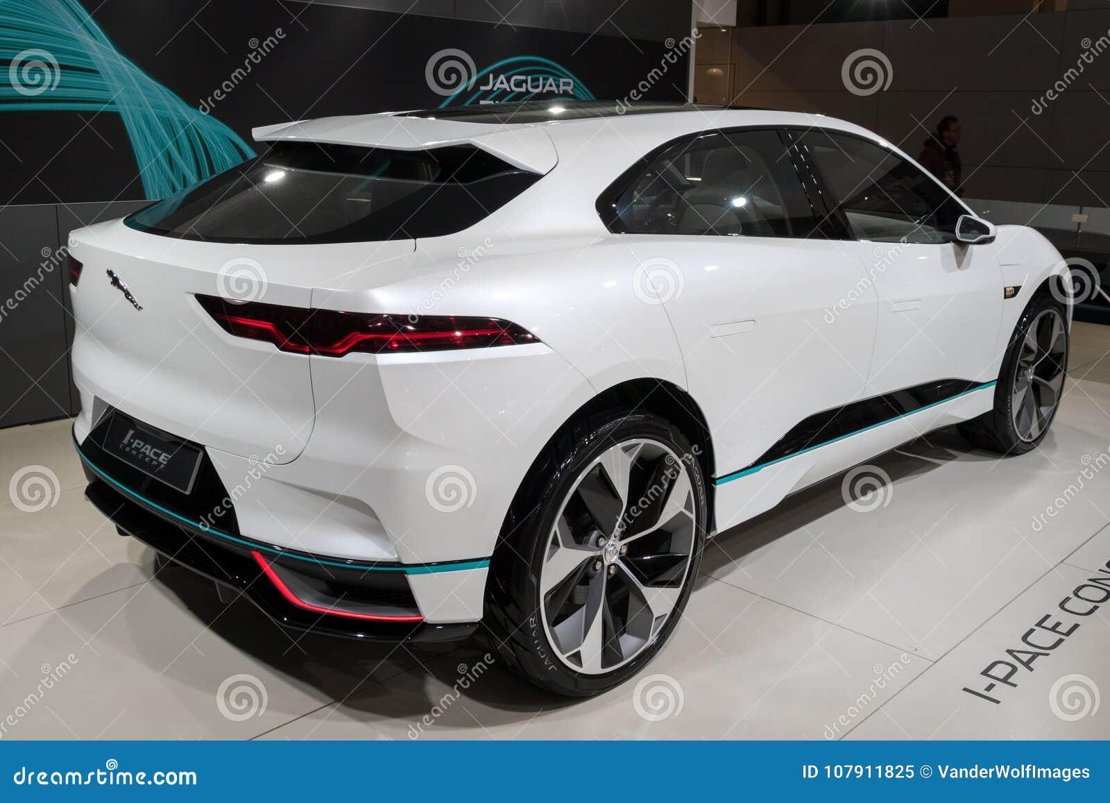 2018 Jaguar I Tempo Elektrische Suv Auto Redactionele Afbeelding
