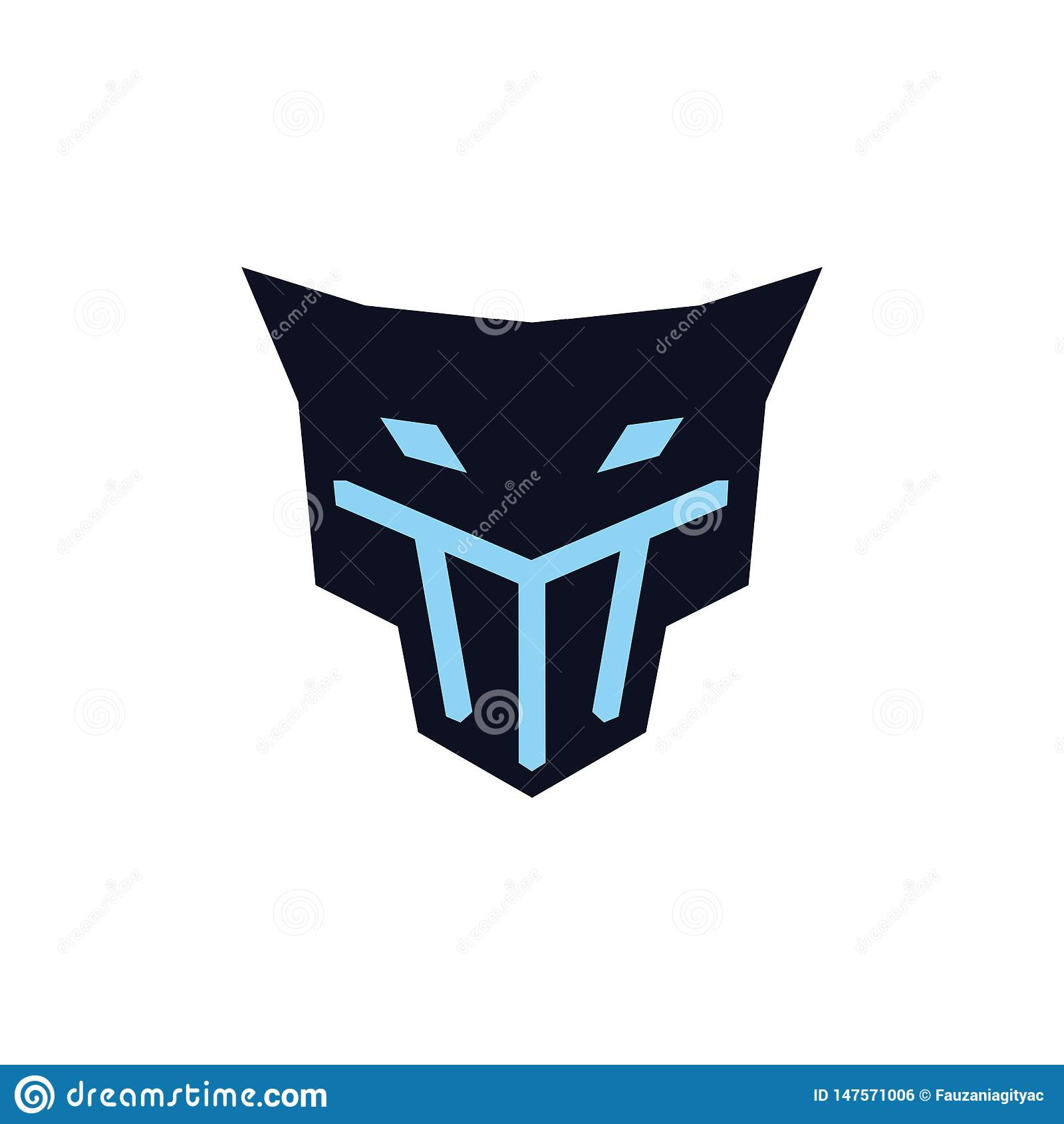 Jaguar principal avec le concept de logo de masque