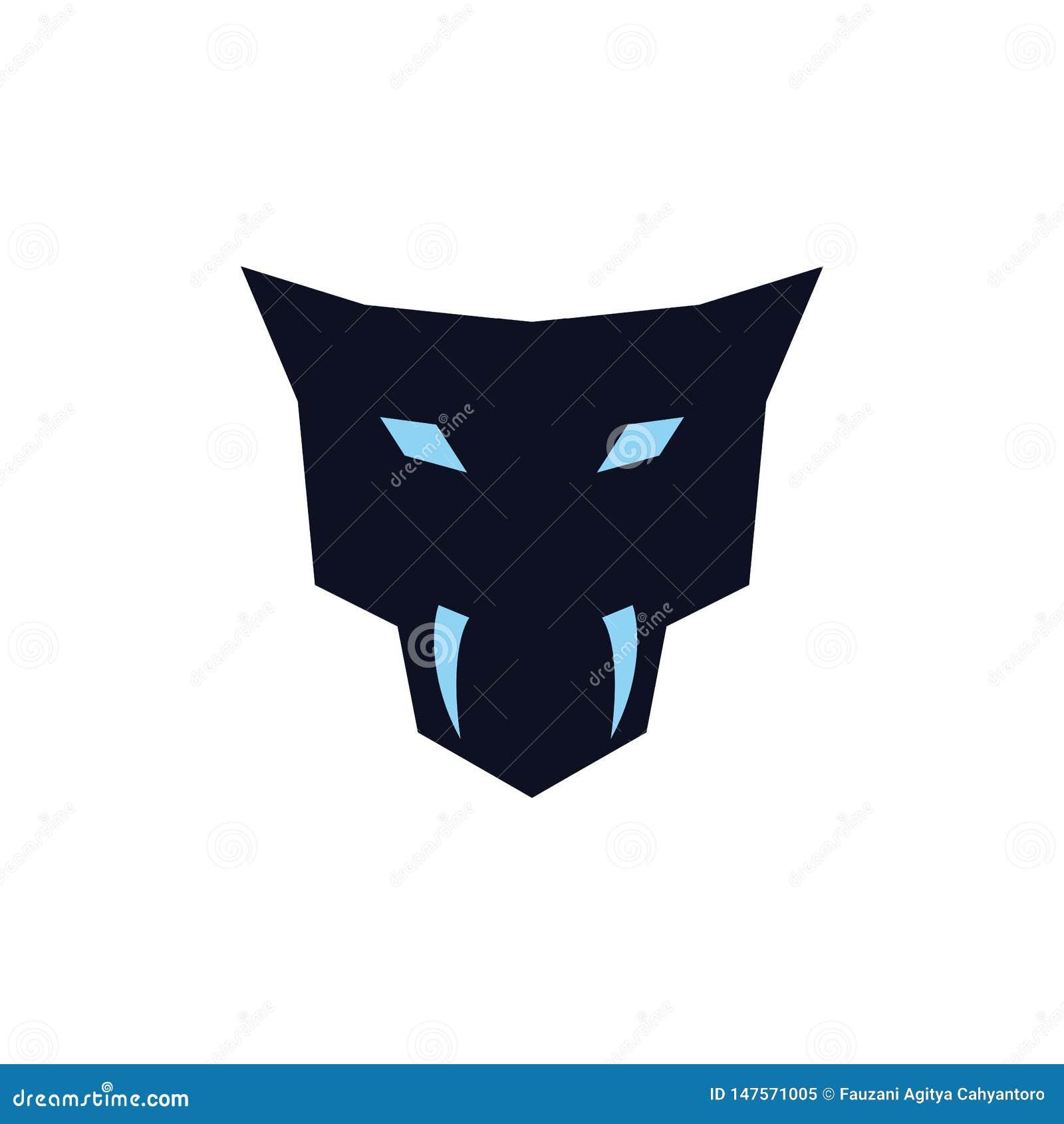 Jaguar principal con concepto del logotipo de los colmillos
