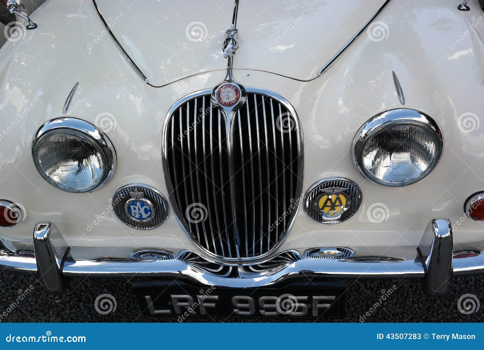 Jaguar samochodu przodu grille