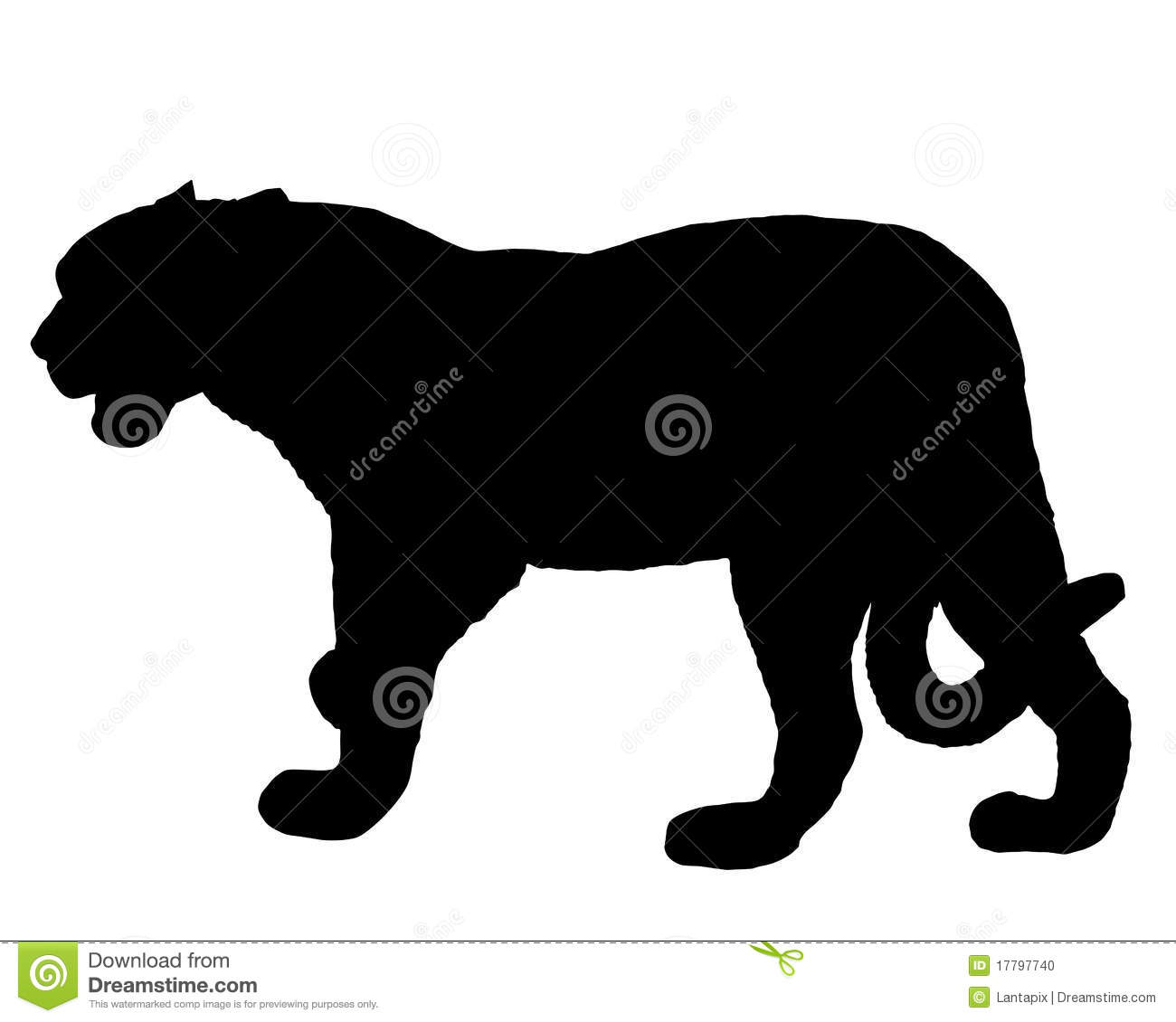 Detailed And Colorful Illustration Of Jaguar Silhouette
