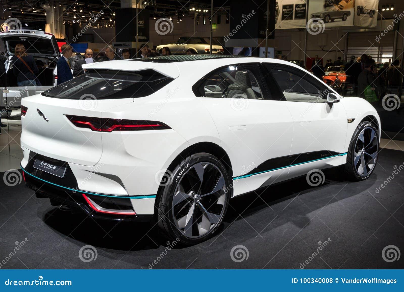 Jaguar Van I Tempo Auto Concepten De Elektrische Suv Redactionele
