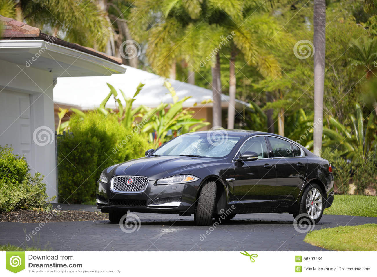 Jaguar Xf Parked In The Driveway Editorial Stock Image Image Of
