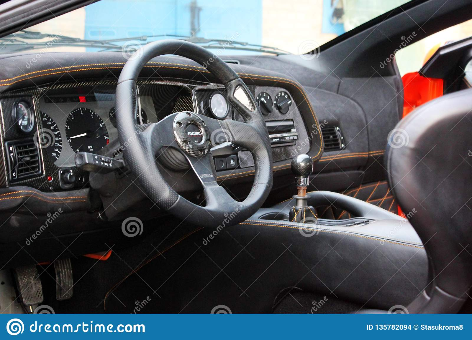 January 3 2013 Kiev Ukraine Jaguar Xj220 View Of The Interior Of A Modern Automobile Showing The Dashboard Editorial Stock Image Image Of Interior Black 135782094