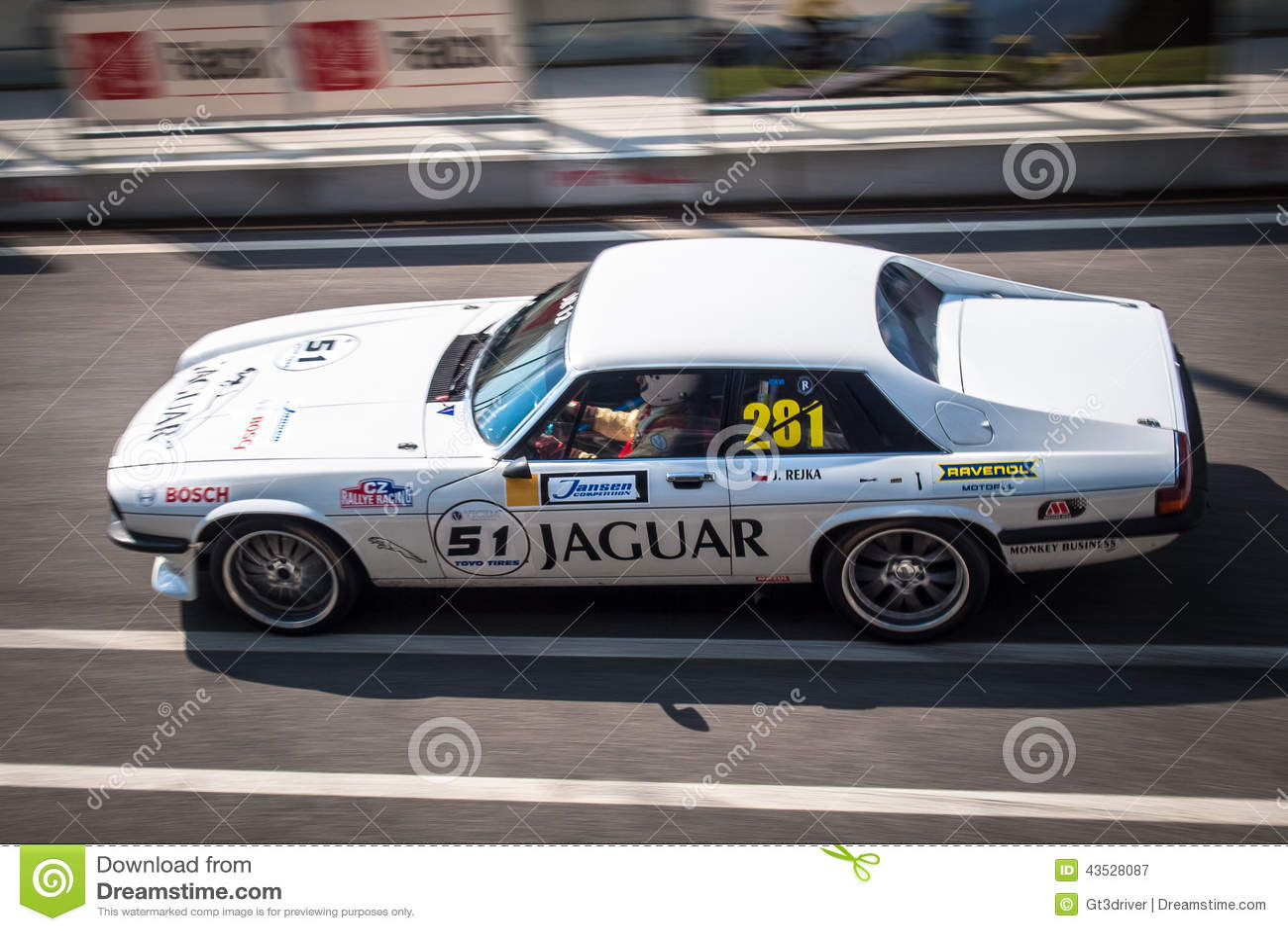 Jaguar XJS racing car editorial photography. Image of competition ...
