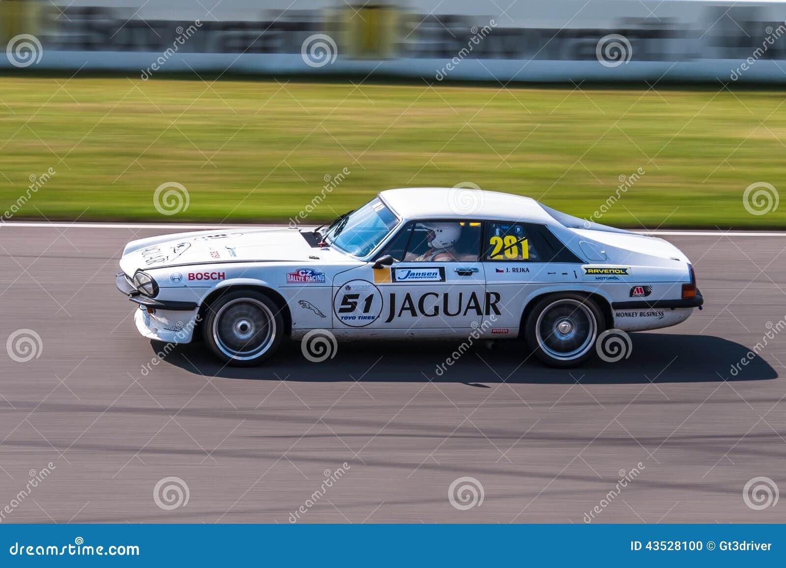 Jaguar XJS racing car editorial image. Image of circuit - 43528100