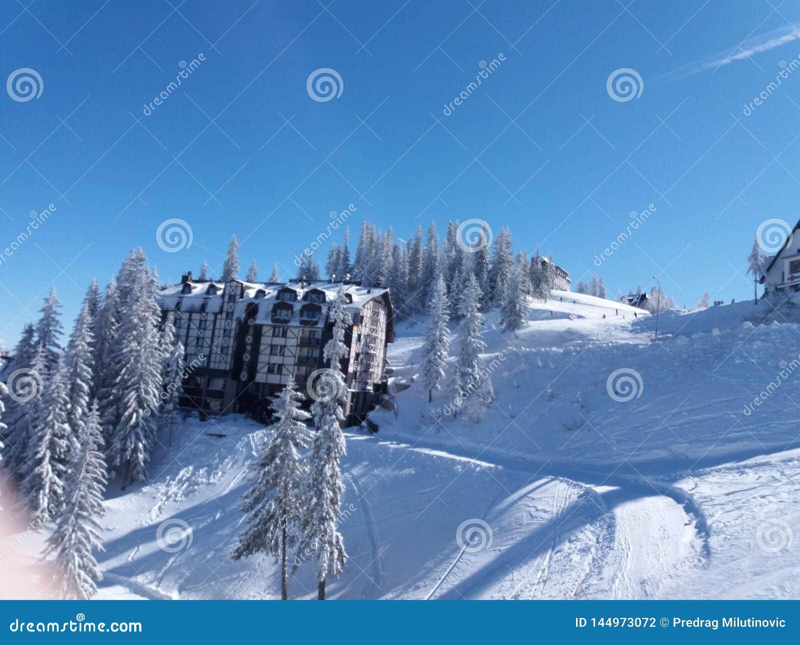 Гора Jahorina - лыжный курорт