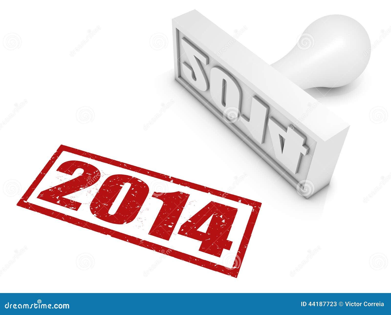 Jahr-Stempel 2014