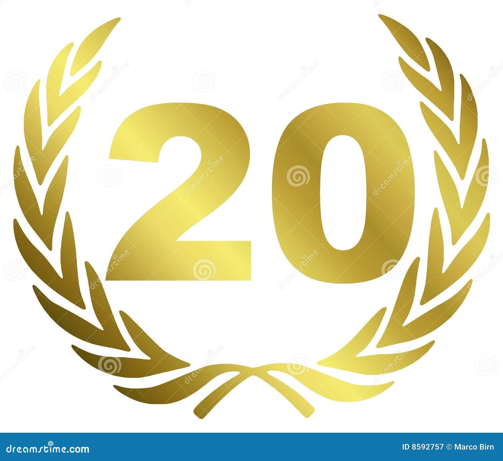Jahrestag 20 stock abbildung. Illustration von festival   20