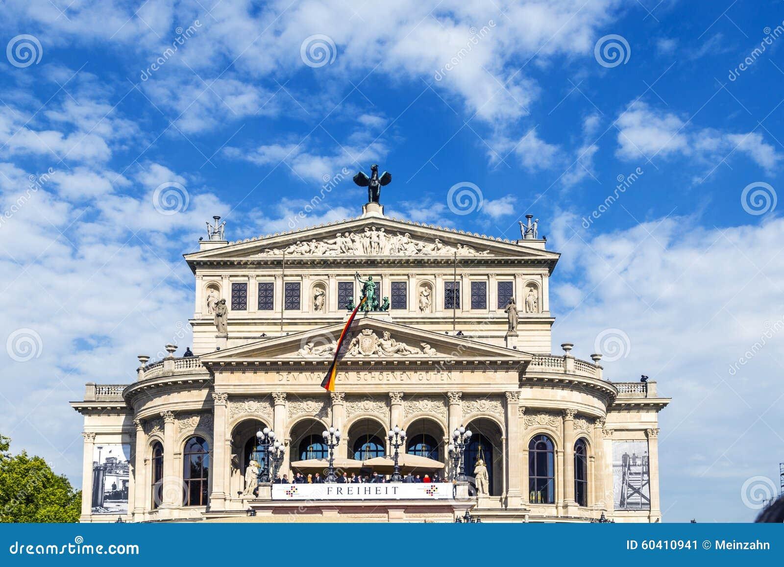 25 Jahrestag Der Deutschen Einheit In Frankfurt Leute Am
