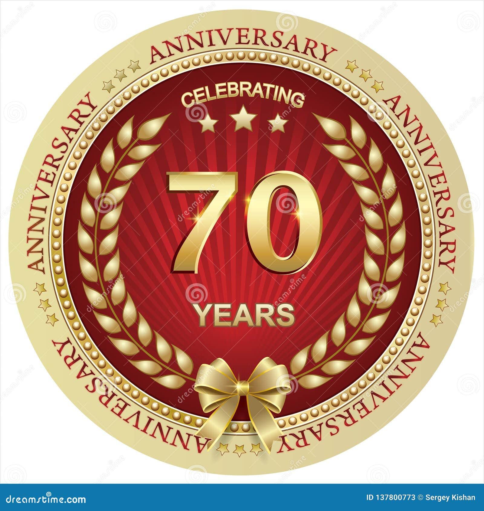 Jahrestag 70 Jahre, Geburtstag, Hintergrund, Feier, Grußkarte Auch im corel abgehobenen Betrag
