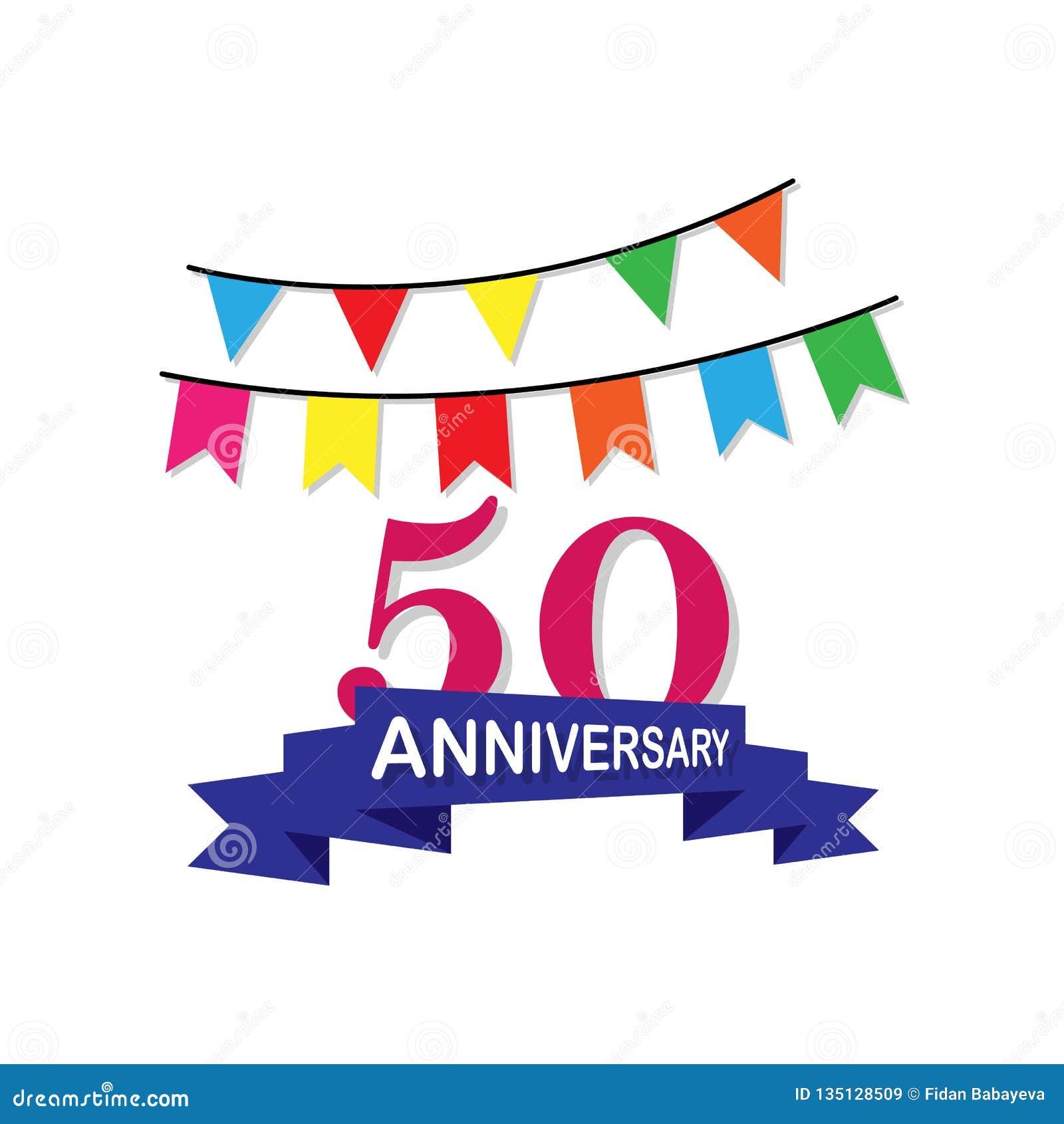 Jahrestag, 50 Jahre mehrfarbige Ikone Kann für Netz, Logo, mobiler App, UI, UX verwendet werden
