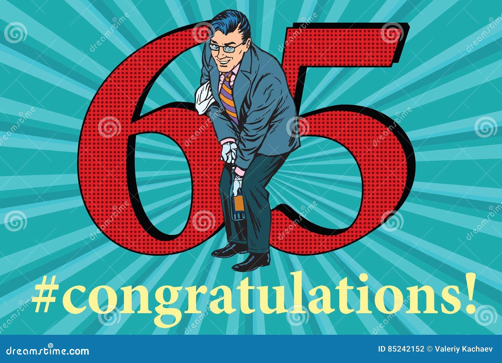 Jahrestags Ereignisfeier Der Glückwünsche 65 Vektor