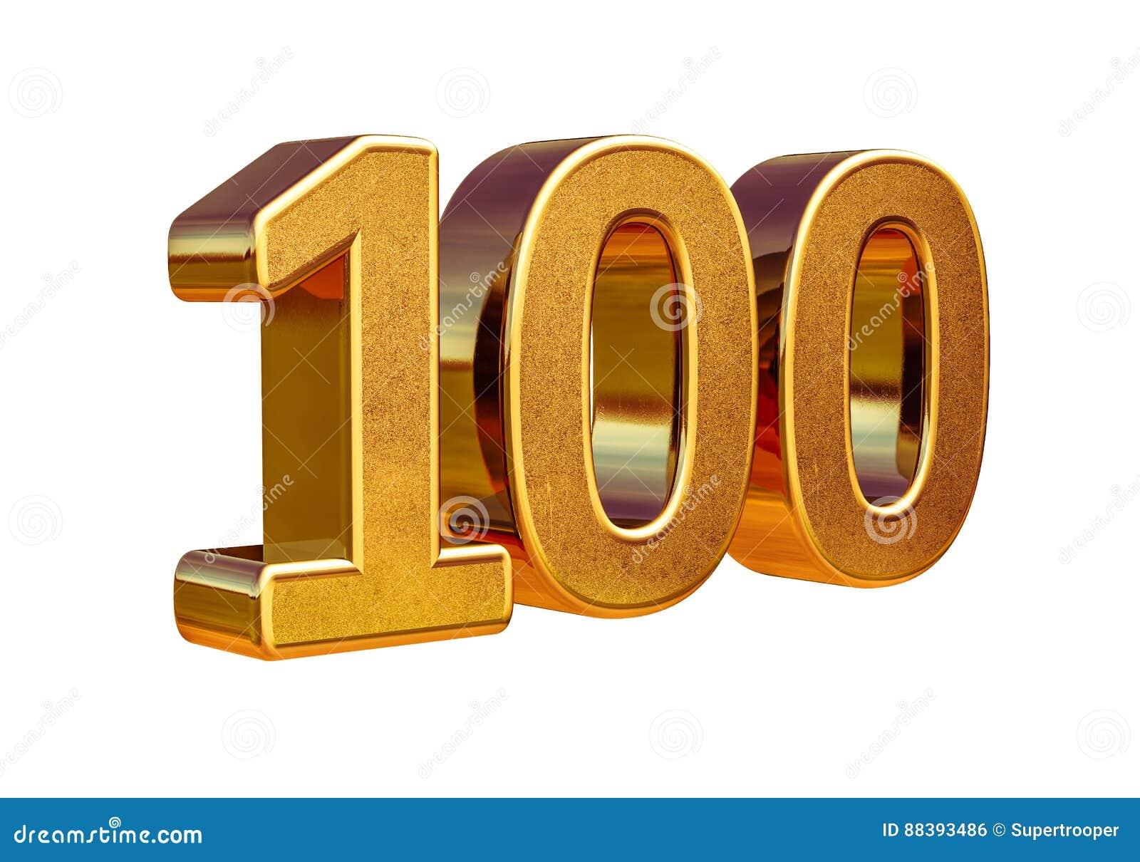 Jahrestags-Zeichen des Gold3d 100. Top 100