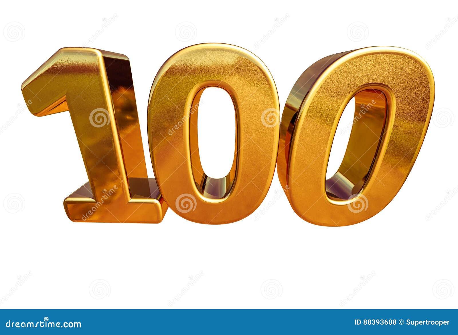 Jahrestags-Zeichen Des Gold3d 100. Top 100 Stock Abbildung ...
