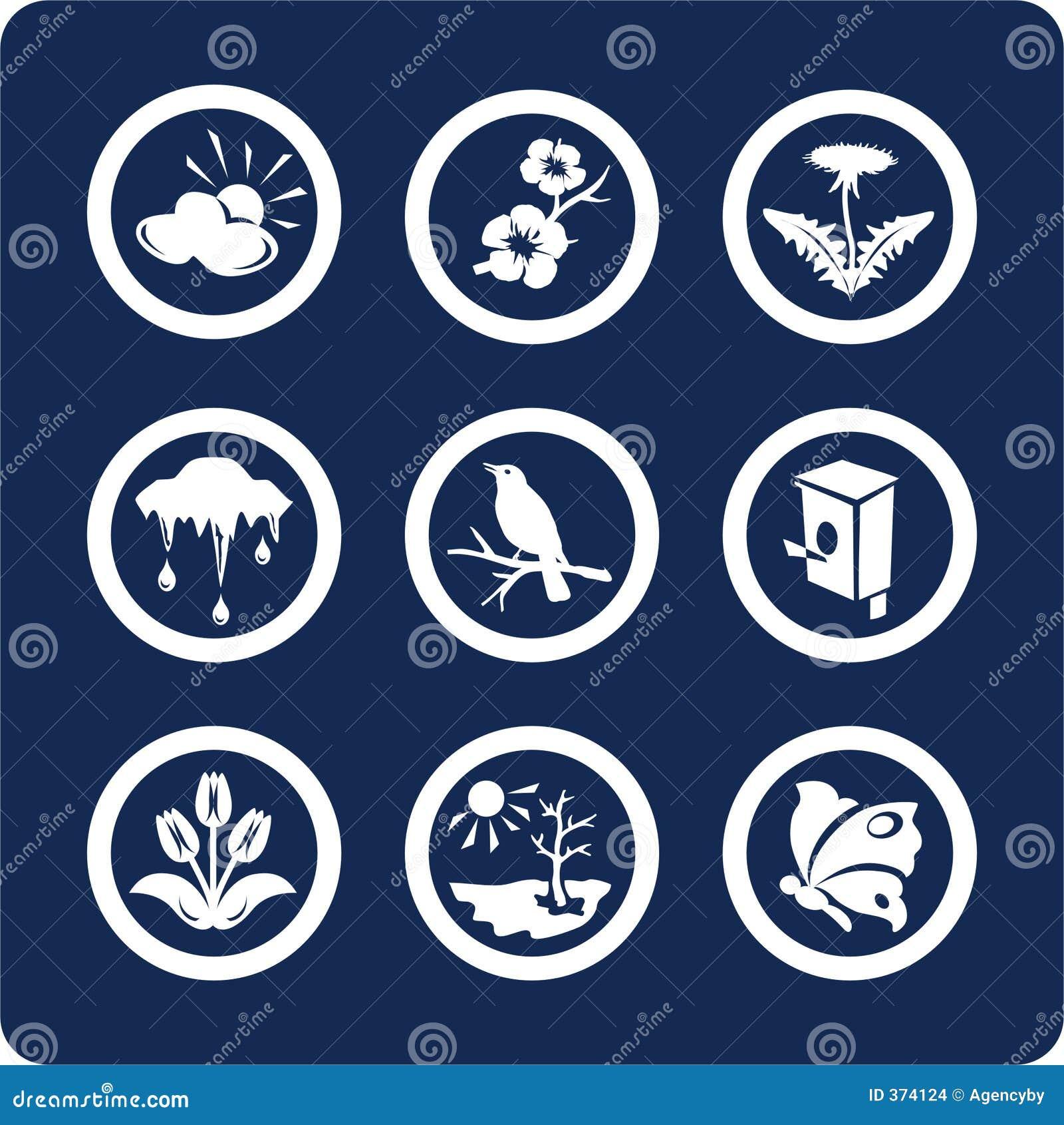 Jahreszeiten: Frühlingsikonen (stellen Sie 3, Teil 2) ein