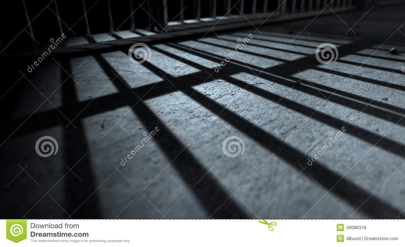 Jail Cell Bars Cast Shadows Stock Photo Image 49088318