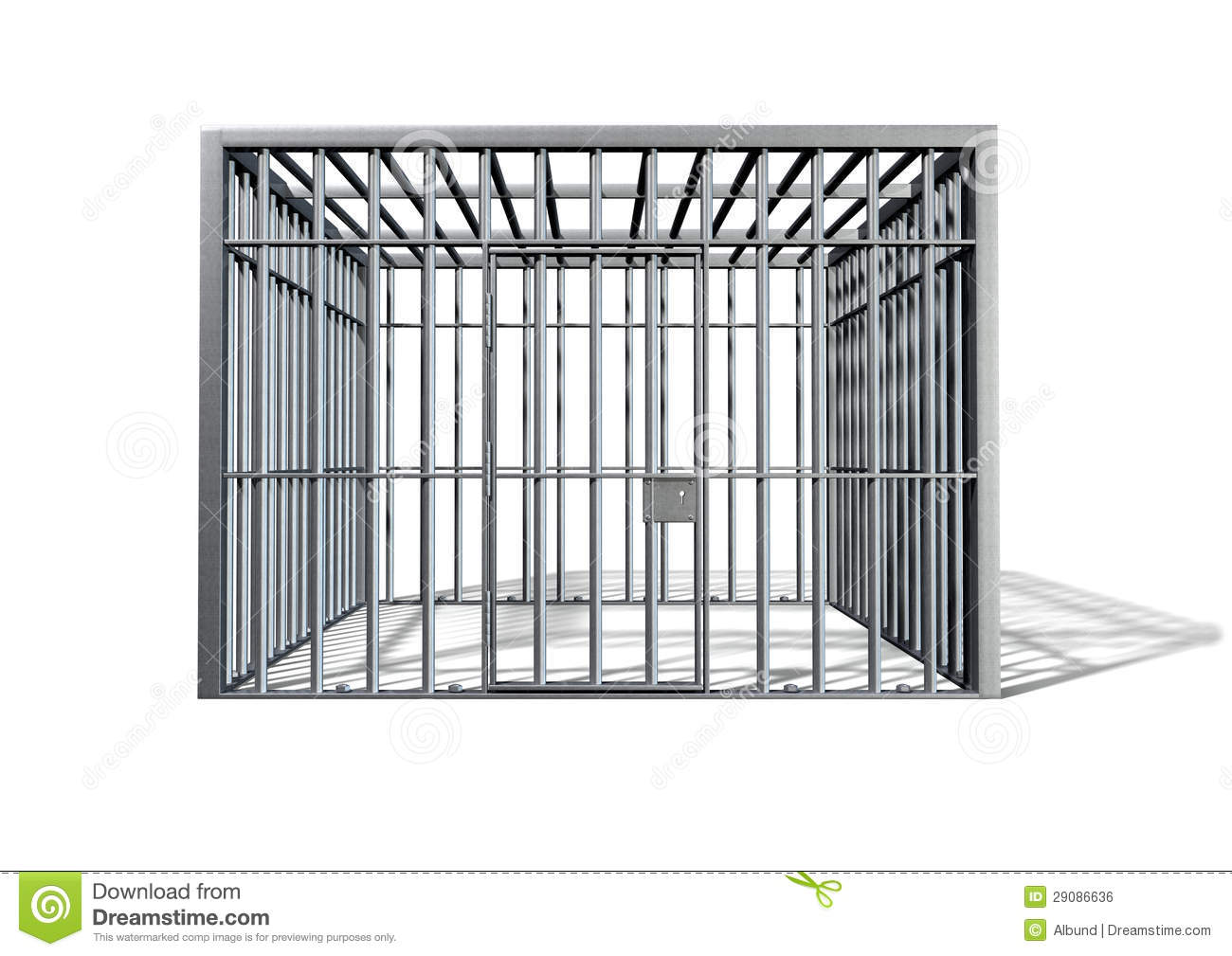 Jail Holding Cell Isolated Front Royalty Free Stock Image - Image ...