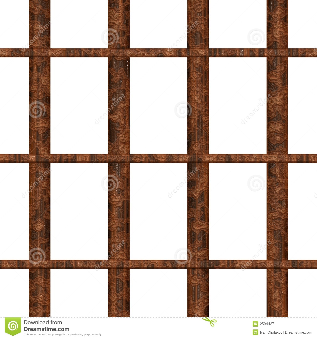 Rusty Jail Bars