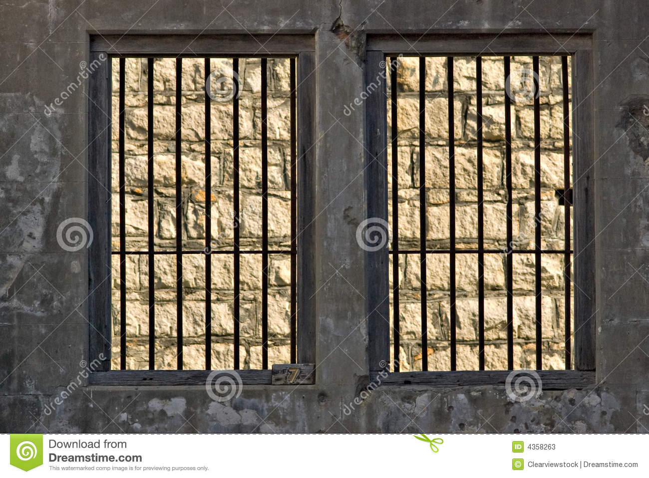 Jail Windows With Bars Stock Image Image Of Cells Jail