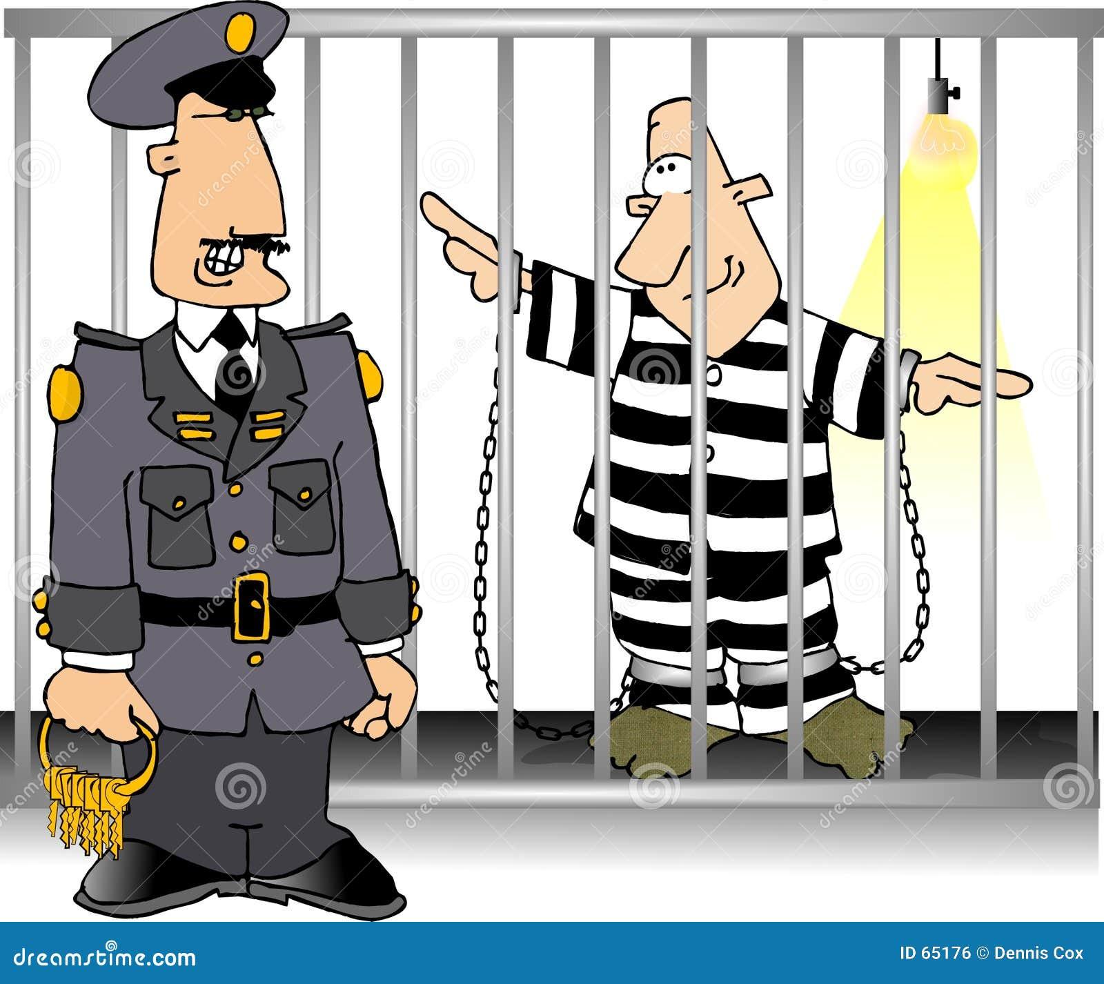Download Jailbird Et Dispositif Protecteur Illustration Stock - Illustration du prison, autorité: 65176