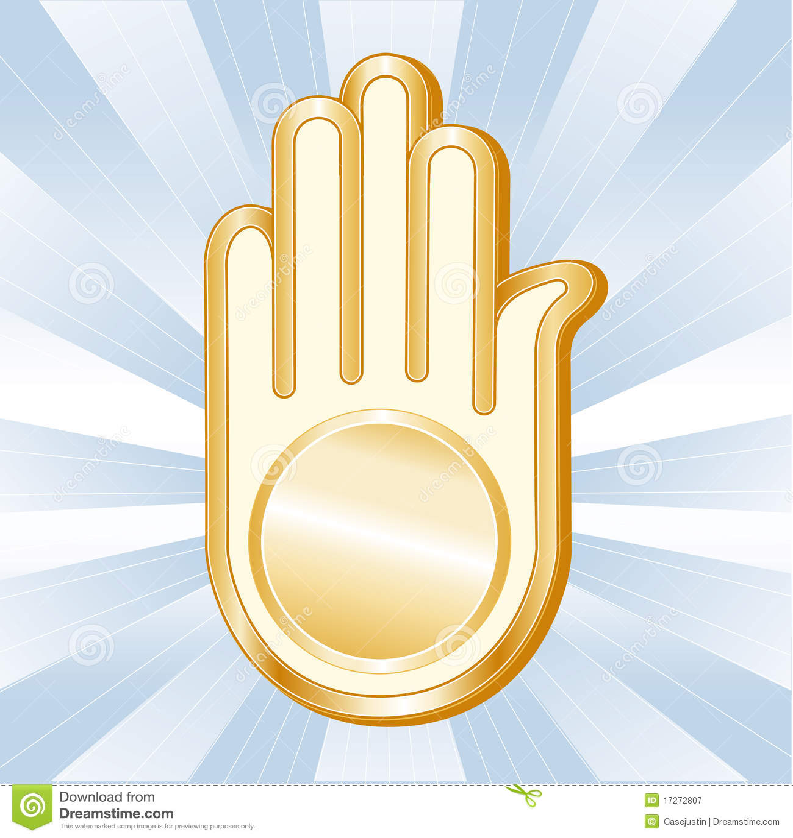 Symbol Of Jainism Ahimsa Stock Vector Illustration Of Hinduism