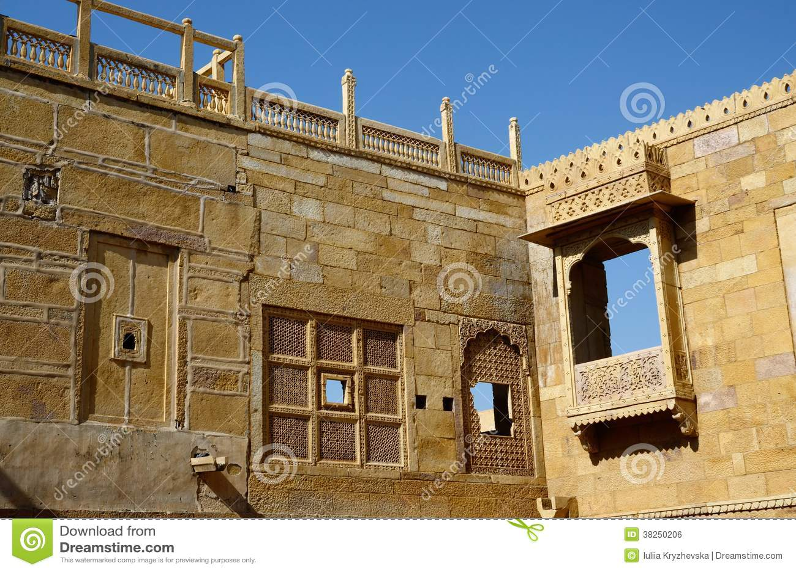 Jaisalmer堡垒,印度传统印度建筑学