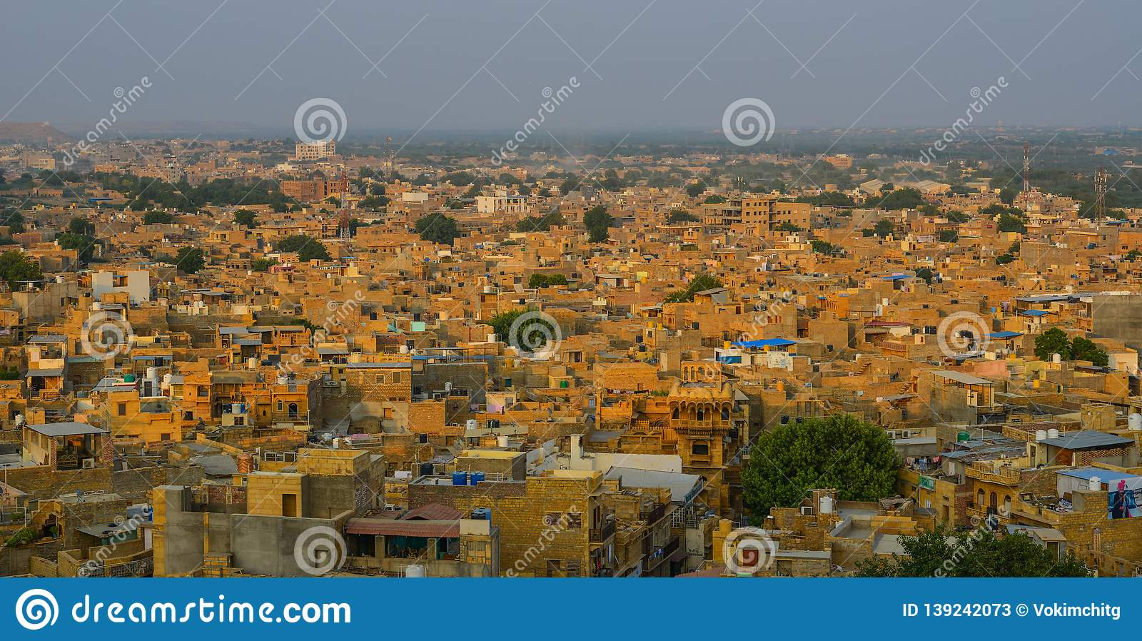 Old Buildings In Jaisalmer, India Editorial Stock Photo