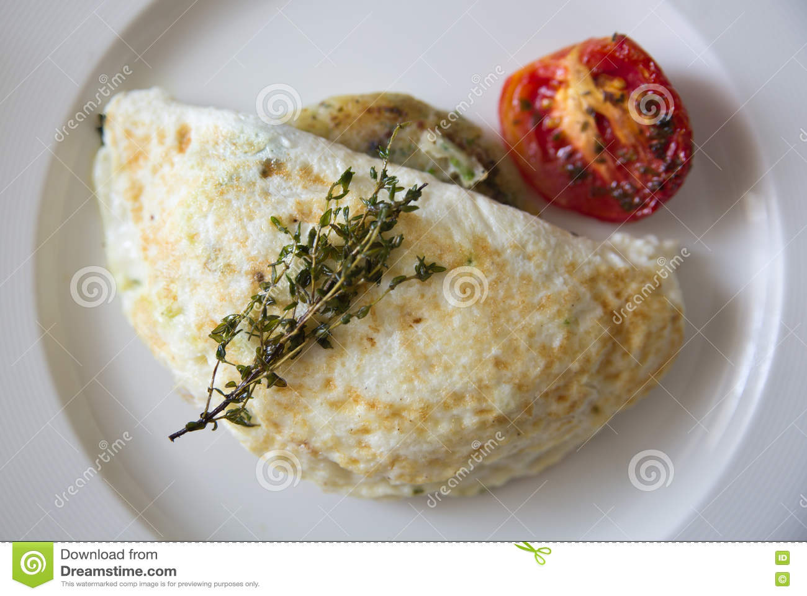 Jajeczny biały omlet