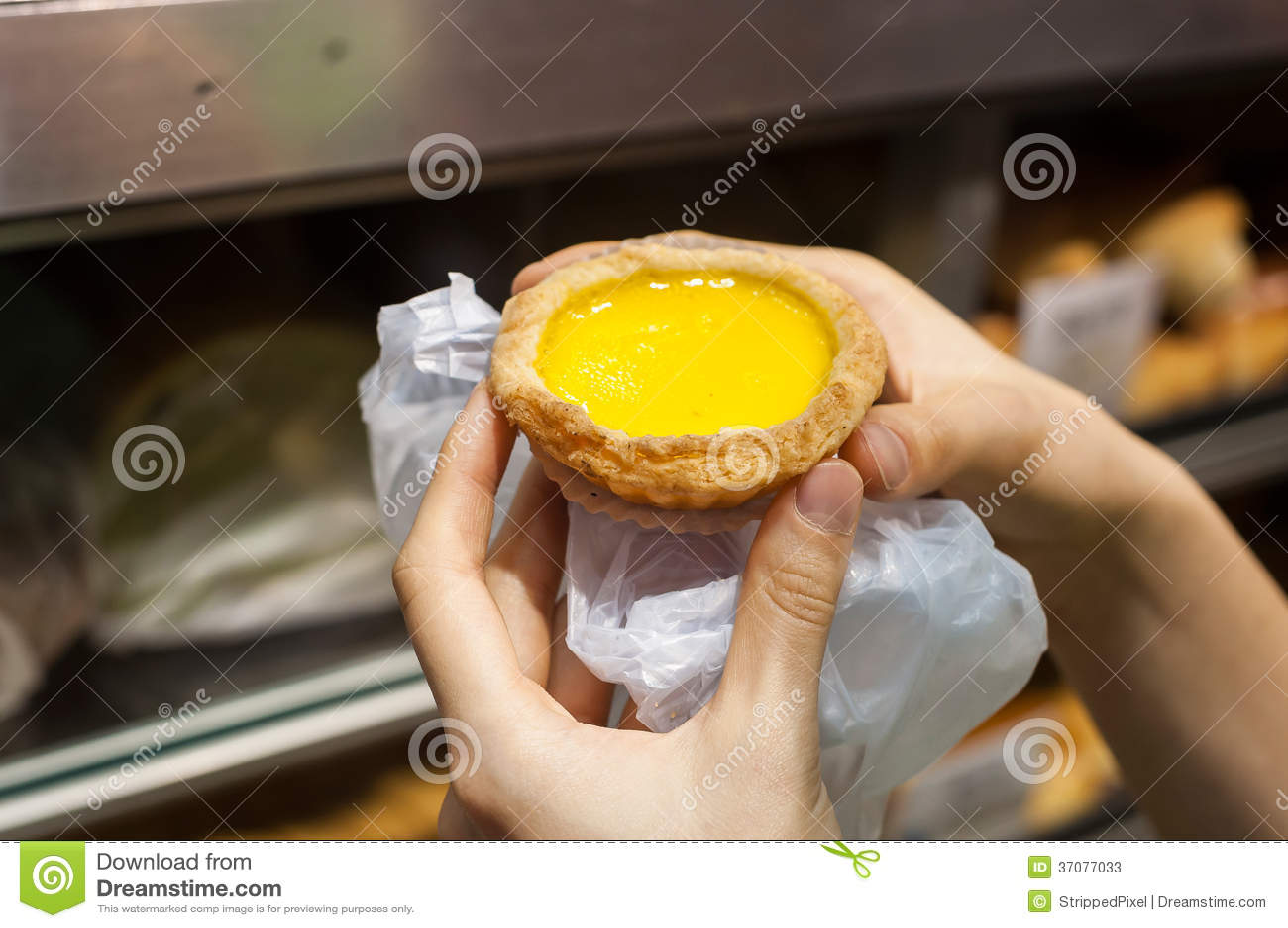 Download Jajeczny Custard Tarta, Hong Kong Przekąska Obraz Stock - Obraz złożonej z desery, custard: 37077033