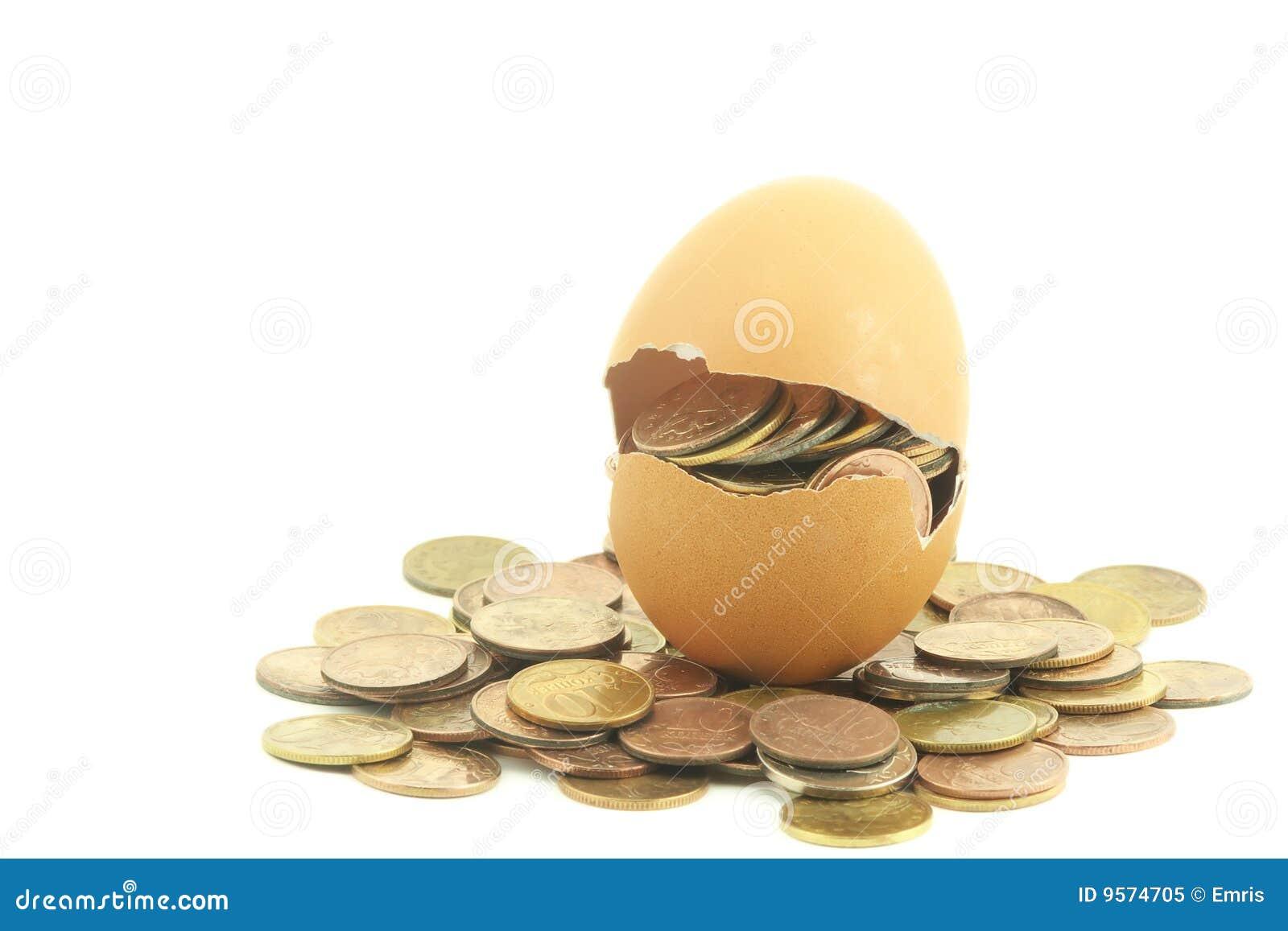 Jajeczny pieniądze