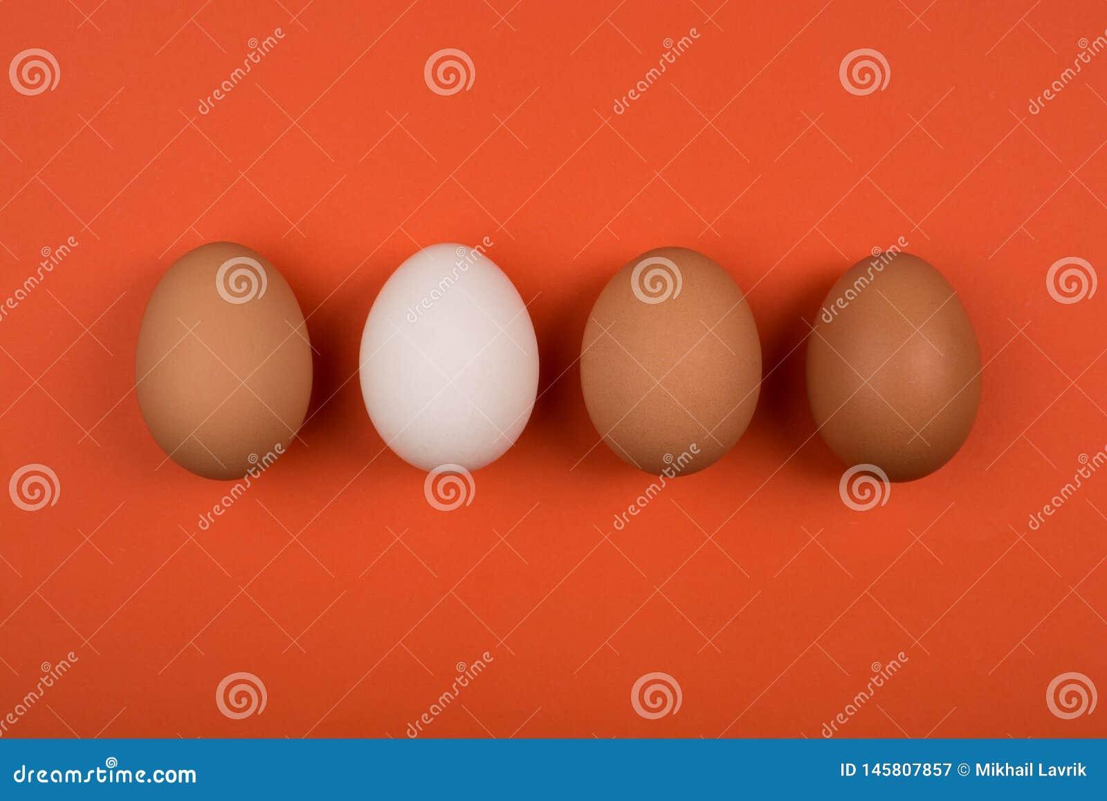 Jajka na czerwonym tle