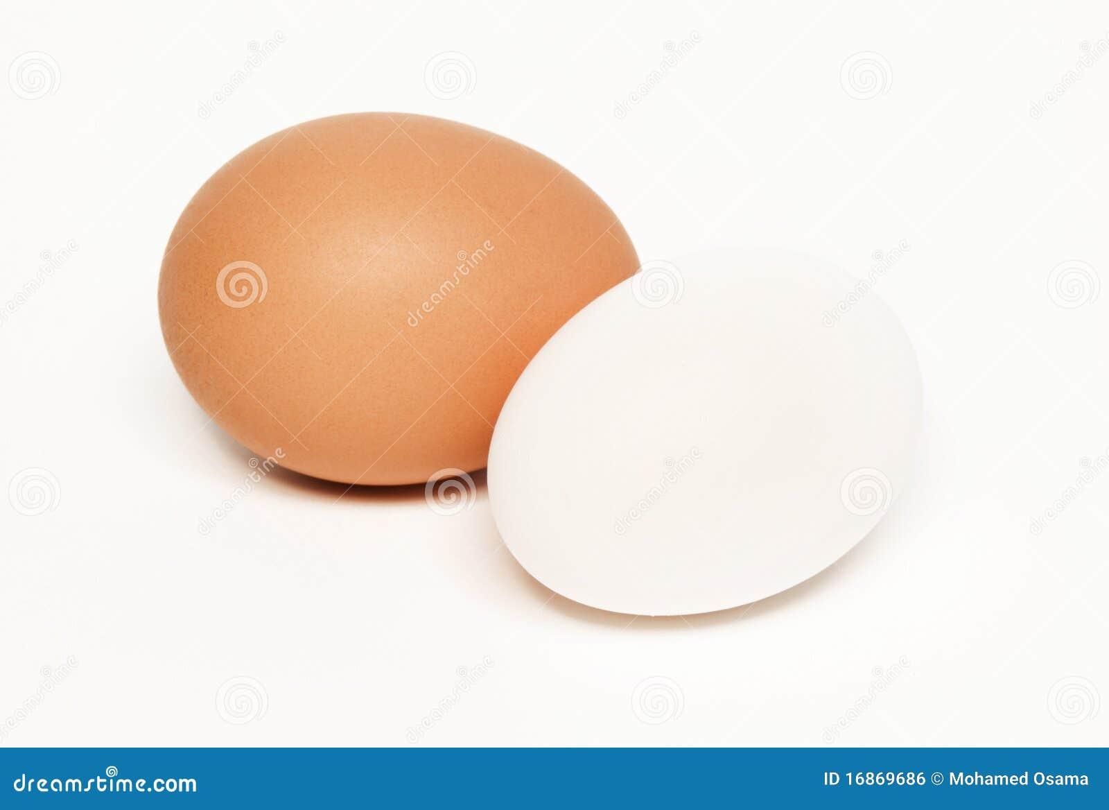 Jajko biel dwa